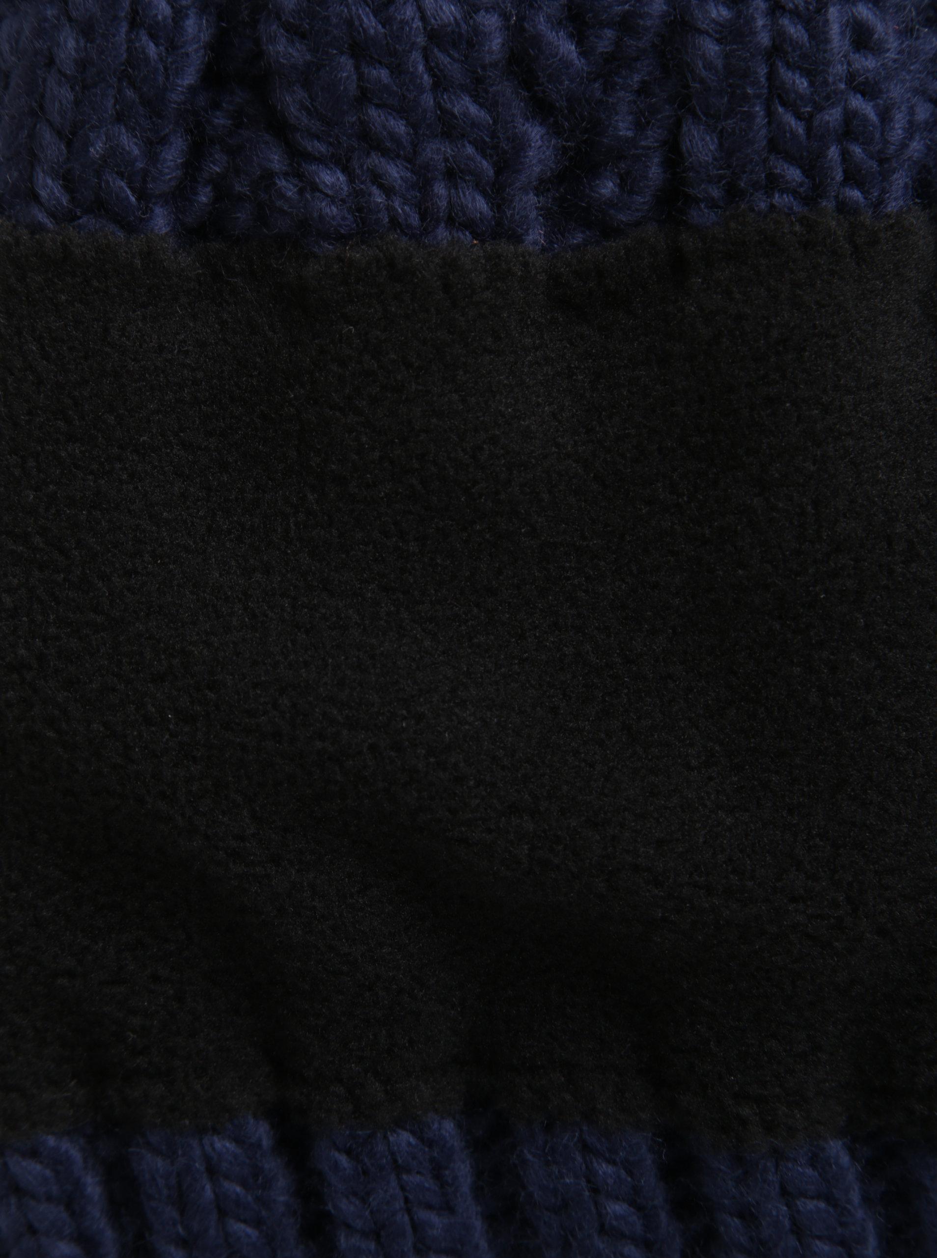 Tmavě modrá dámská pletená čepice Roxy Tram ... f2a0b01353