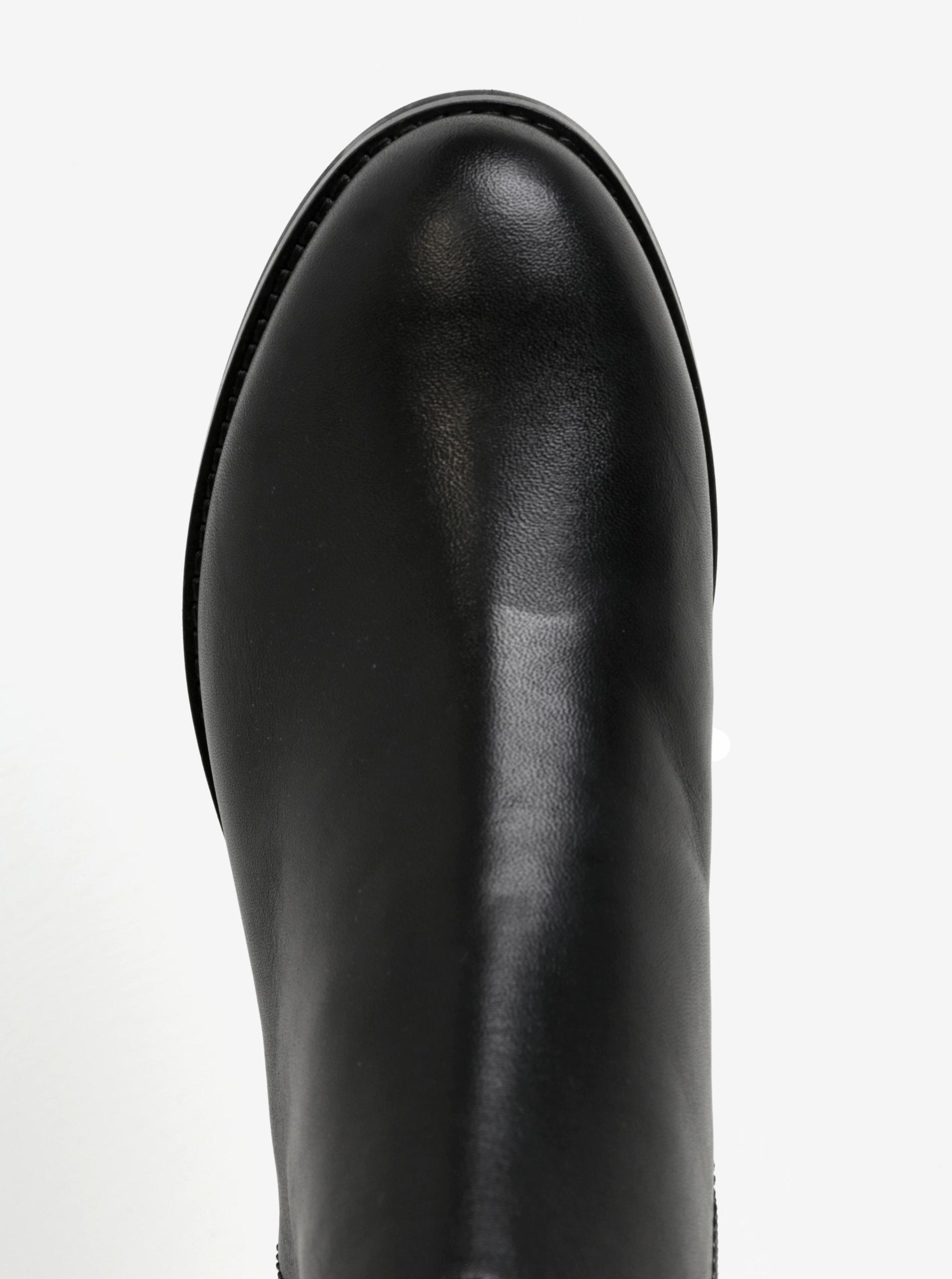 434feba3d36 Černé dámské kožené kotníkové boty Geox Promethea - Akční cena ...