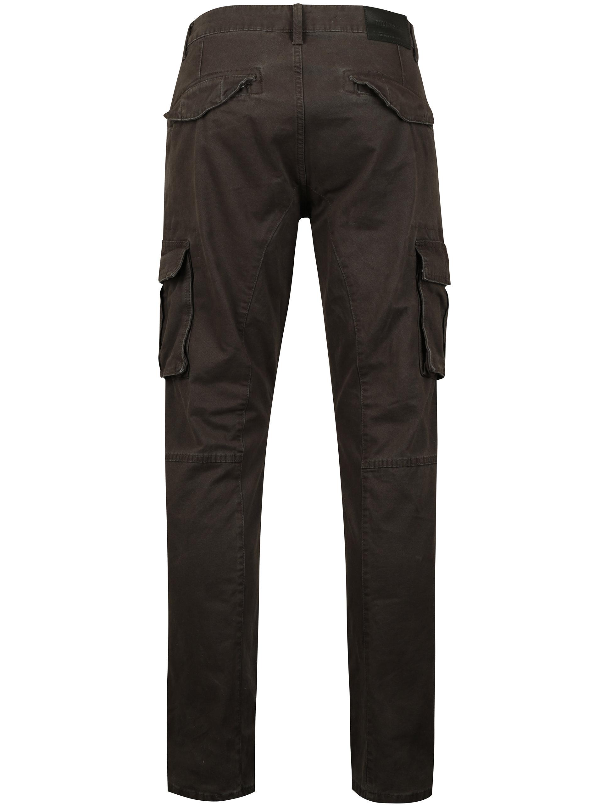 Tmavě šedé kalhoty s kapsami ONLY   SONS Kornelius ... 0a58a7a8f5