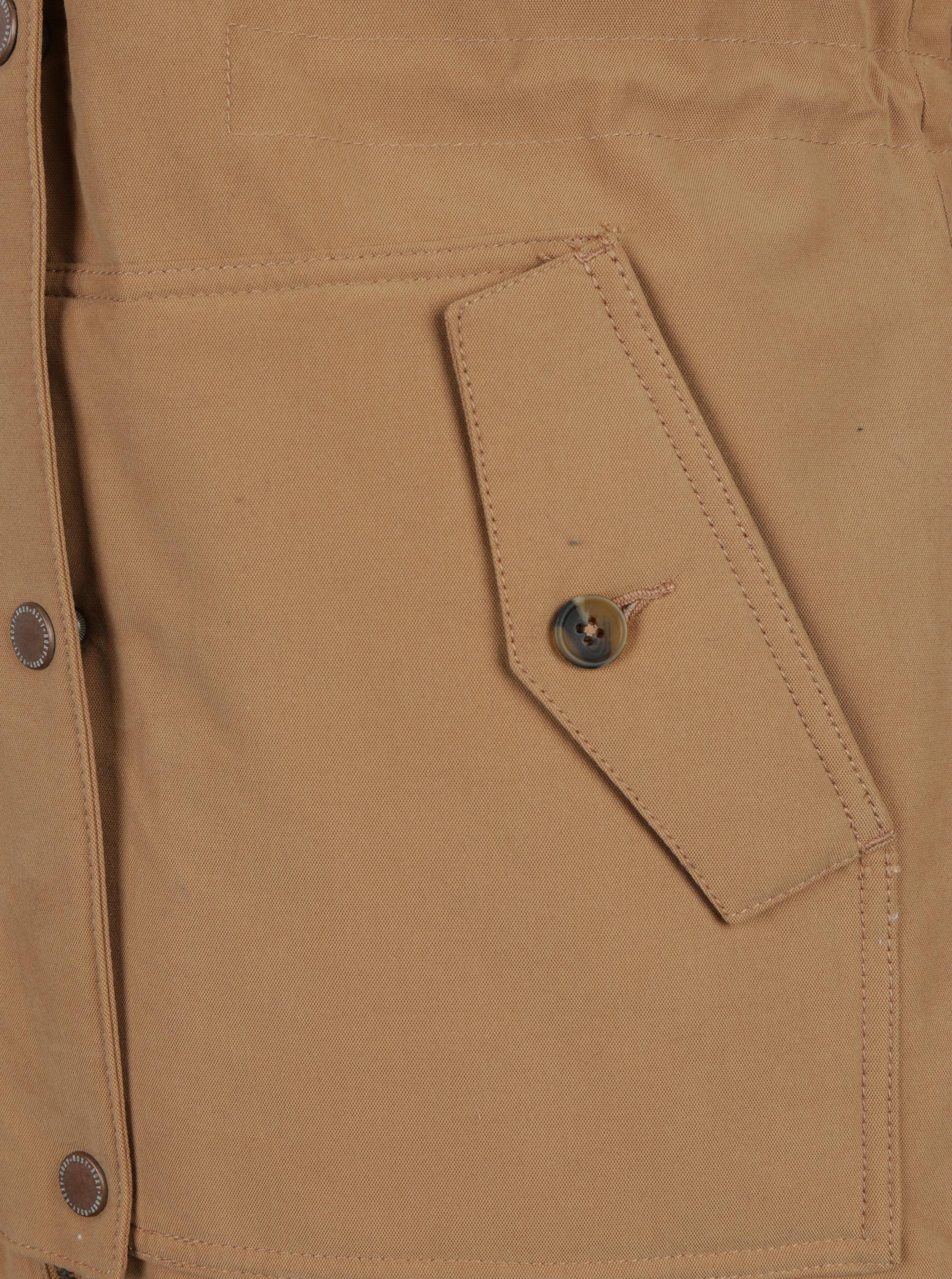 5c38525499 Svetlohnedý dámsky zimný kabát s umelým kožúškom Roxy Mountain ...