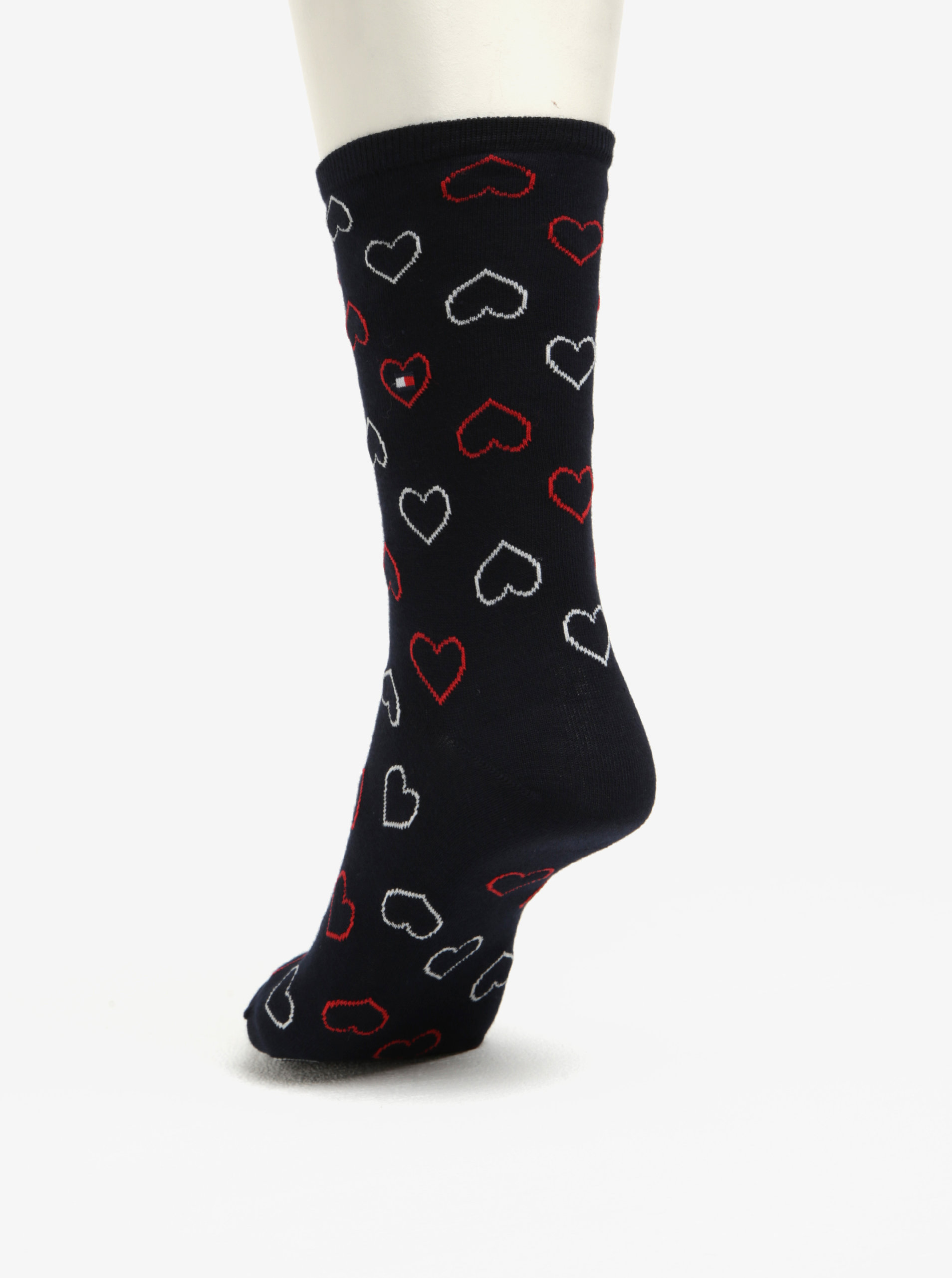 Darčeková súprava troch párov dámskych vzorovaných ponožiek v tmavomodrej farbe  Tommy Hilfiger ... abfe8e00c2d
