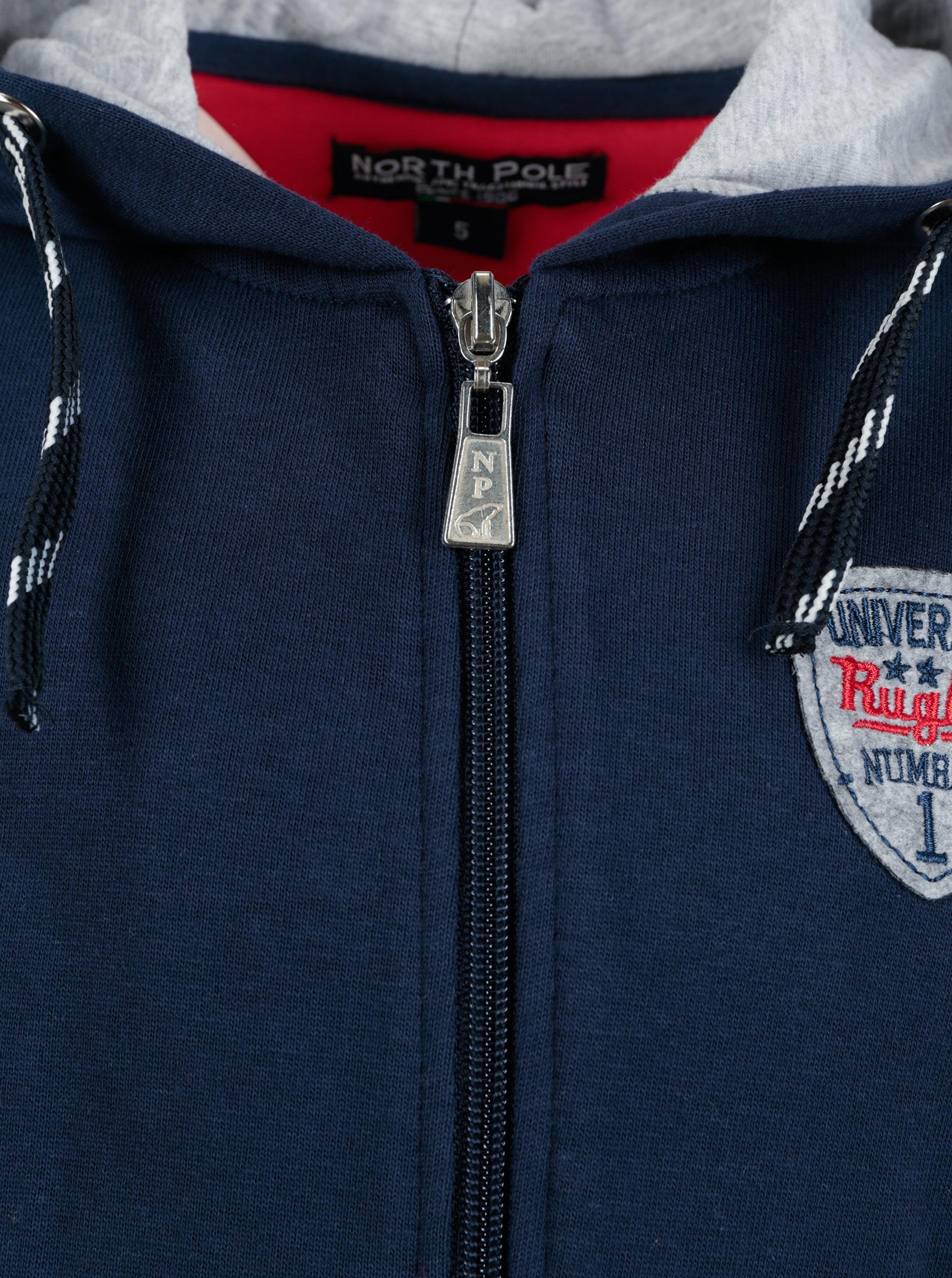 Modrá klučičí mikina s kapucí North Pole Kids ... 325f4b34e7