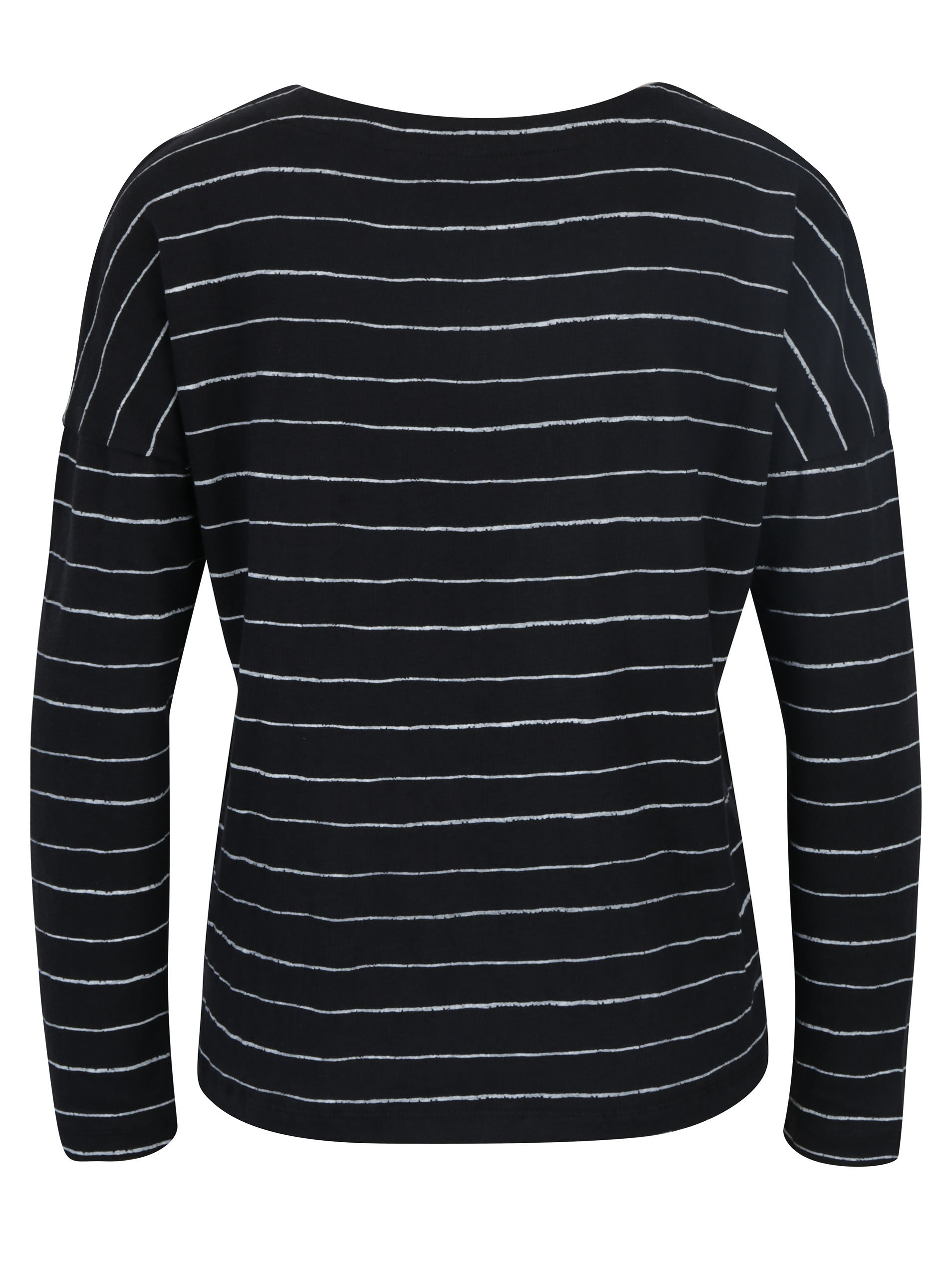 Černo-bílé dámské pruhované tričko Roxy Dream Taste ... 4134de1fa9