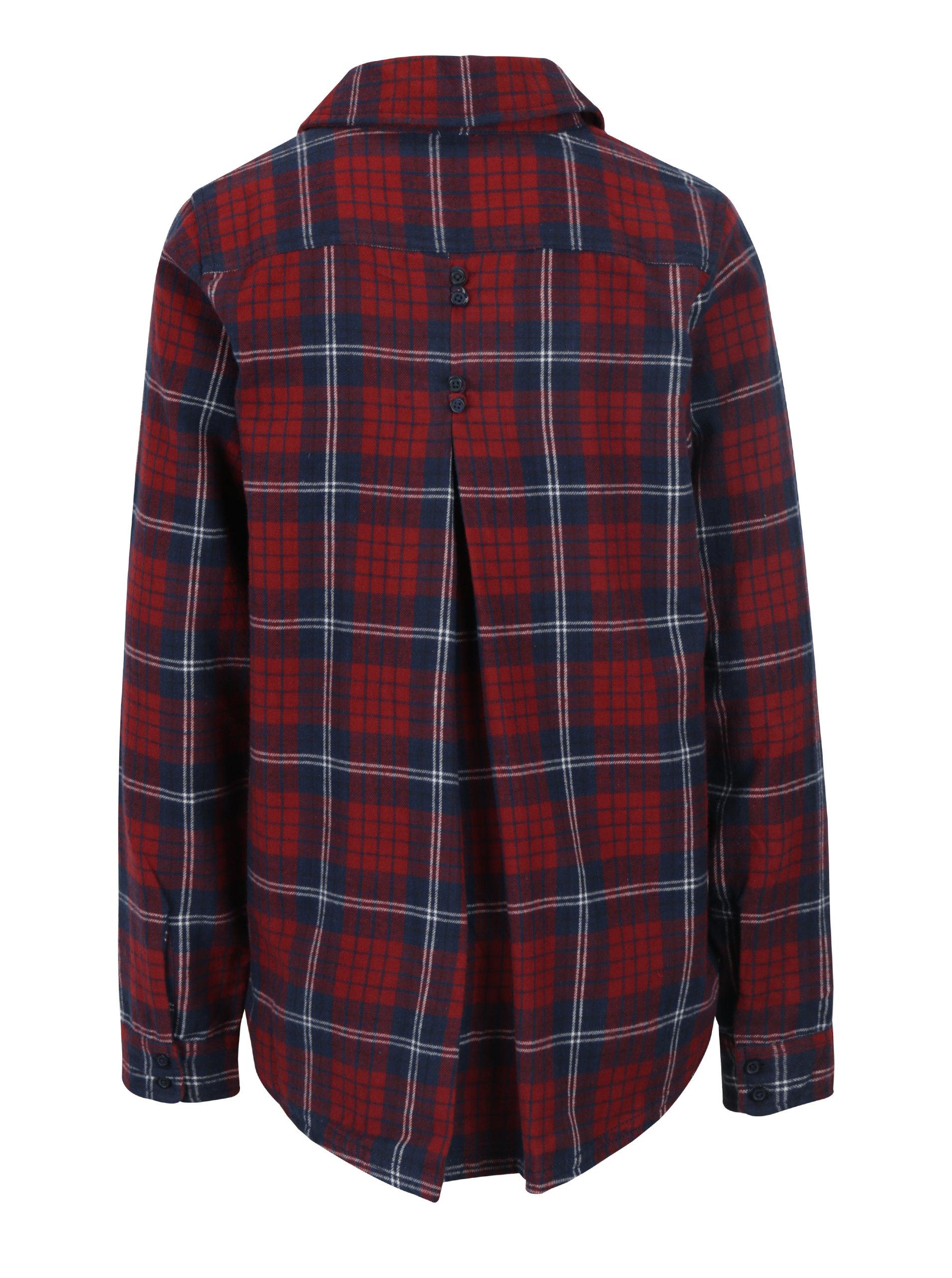 50f34f9d3c65 Modro-červená dámska károvaná košeľa Roxy Heavy Feeling ...