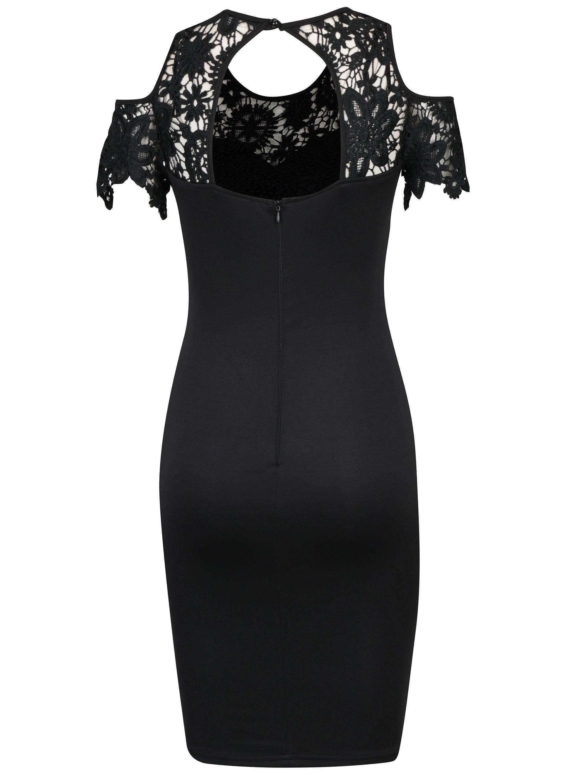2e132215d3b Černé pouzdrové šaty s průstřihy na ramenou AX Paris ...