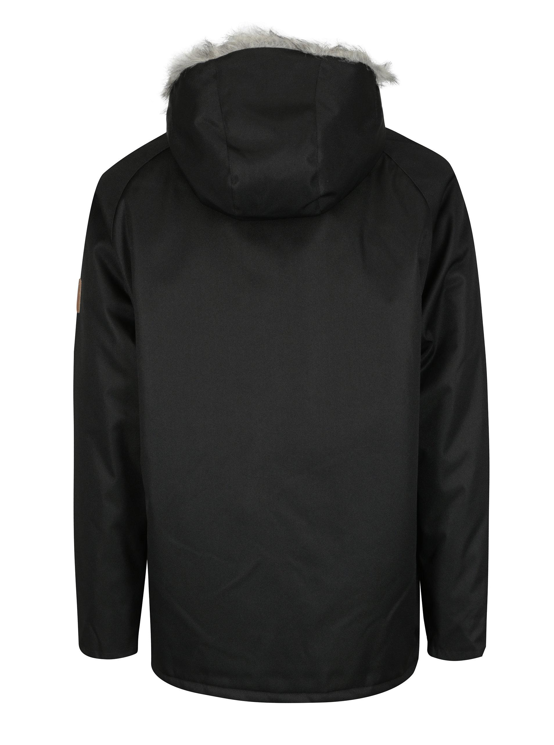 3b94925440d Černá pánská bunda s umělým kožíškem Makia Original Raglan ...