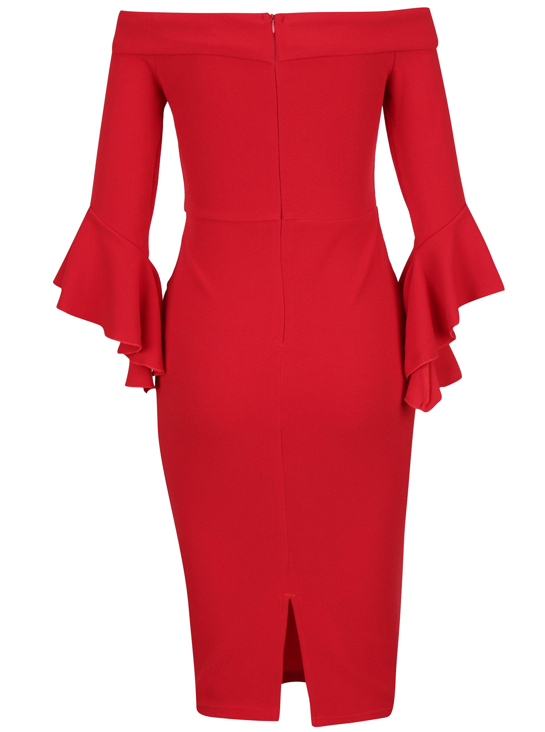 Červené pouzdrové šaty s odhalenými rameny AX Paris ... bb90b5d5b8