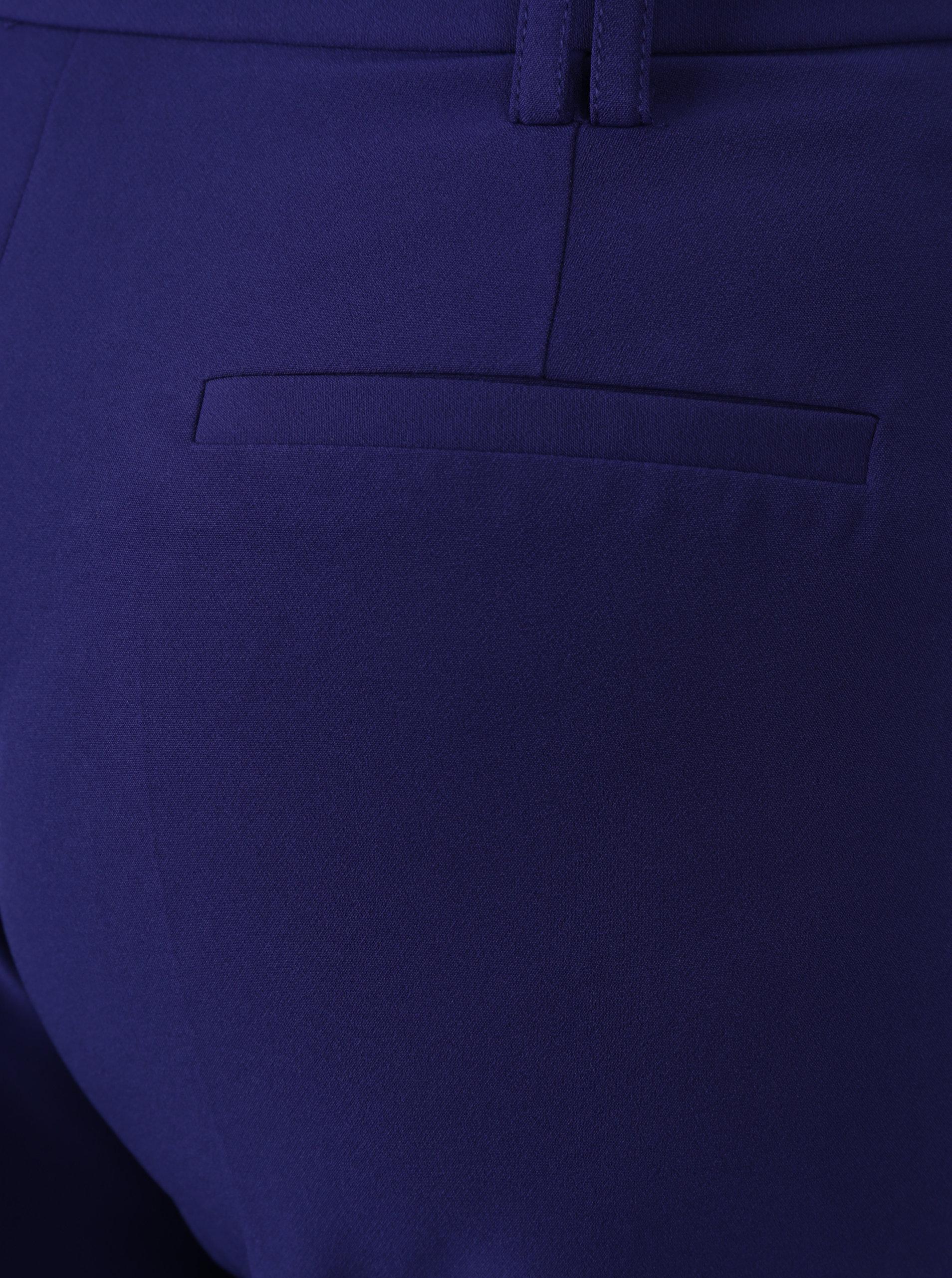 Tmavě fialové volné zkrácené kalhoty s vysokým pasem Dorothy Perkins ... 400f41e582