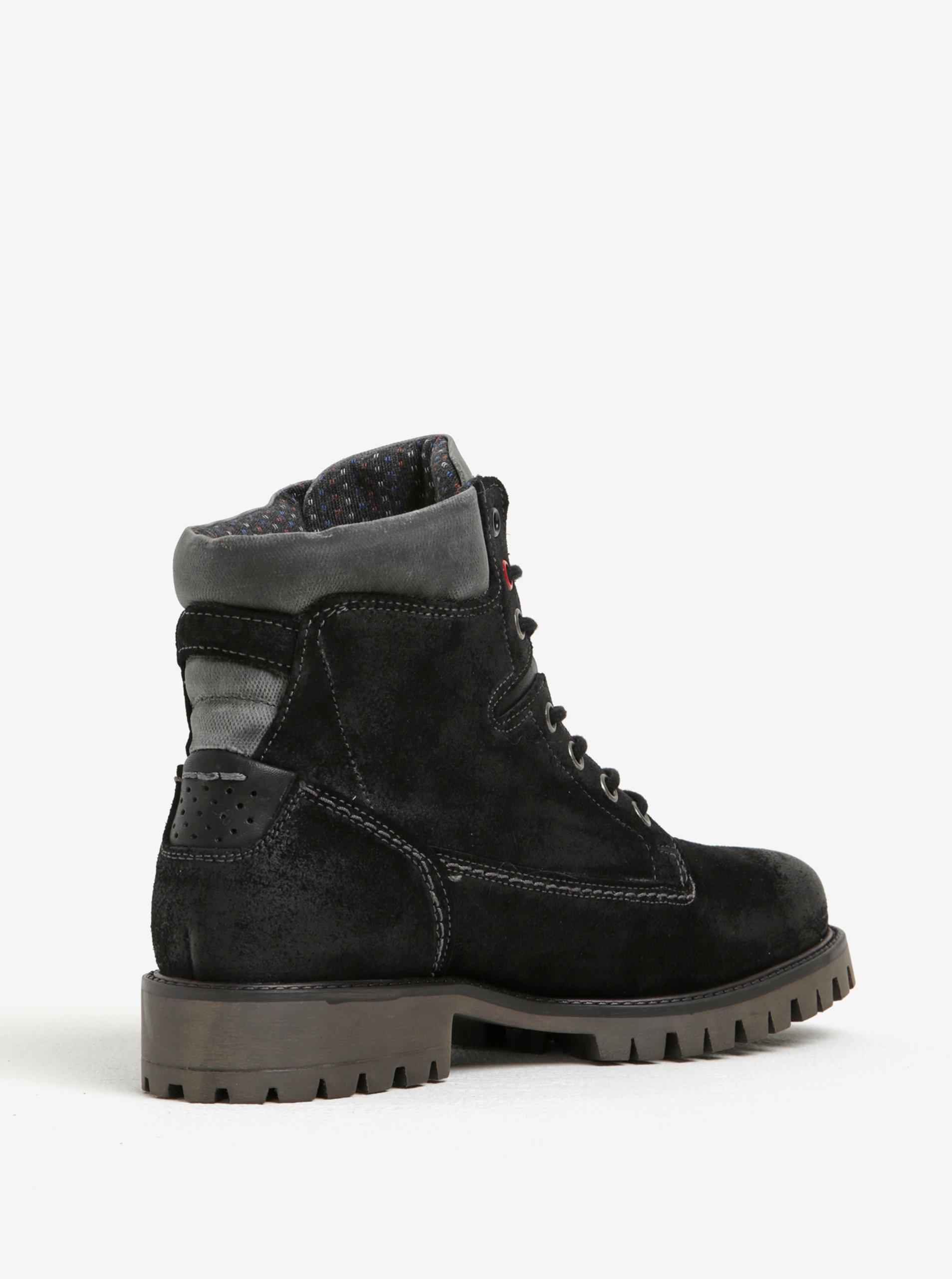 76a183e288 Čierne členkové semišové topánky U.S. Polo Assn. ...