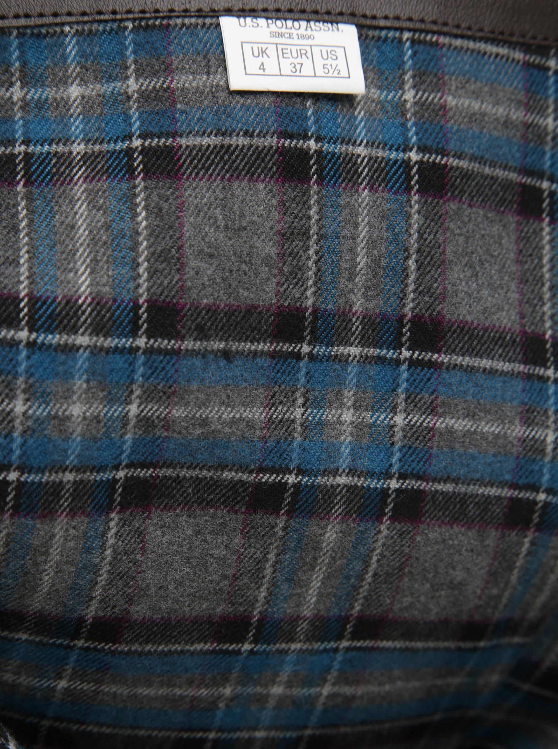 Hnedé semišové vysoké čižmy U.S. Polo Assn. ... 9ada9874bfc