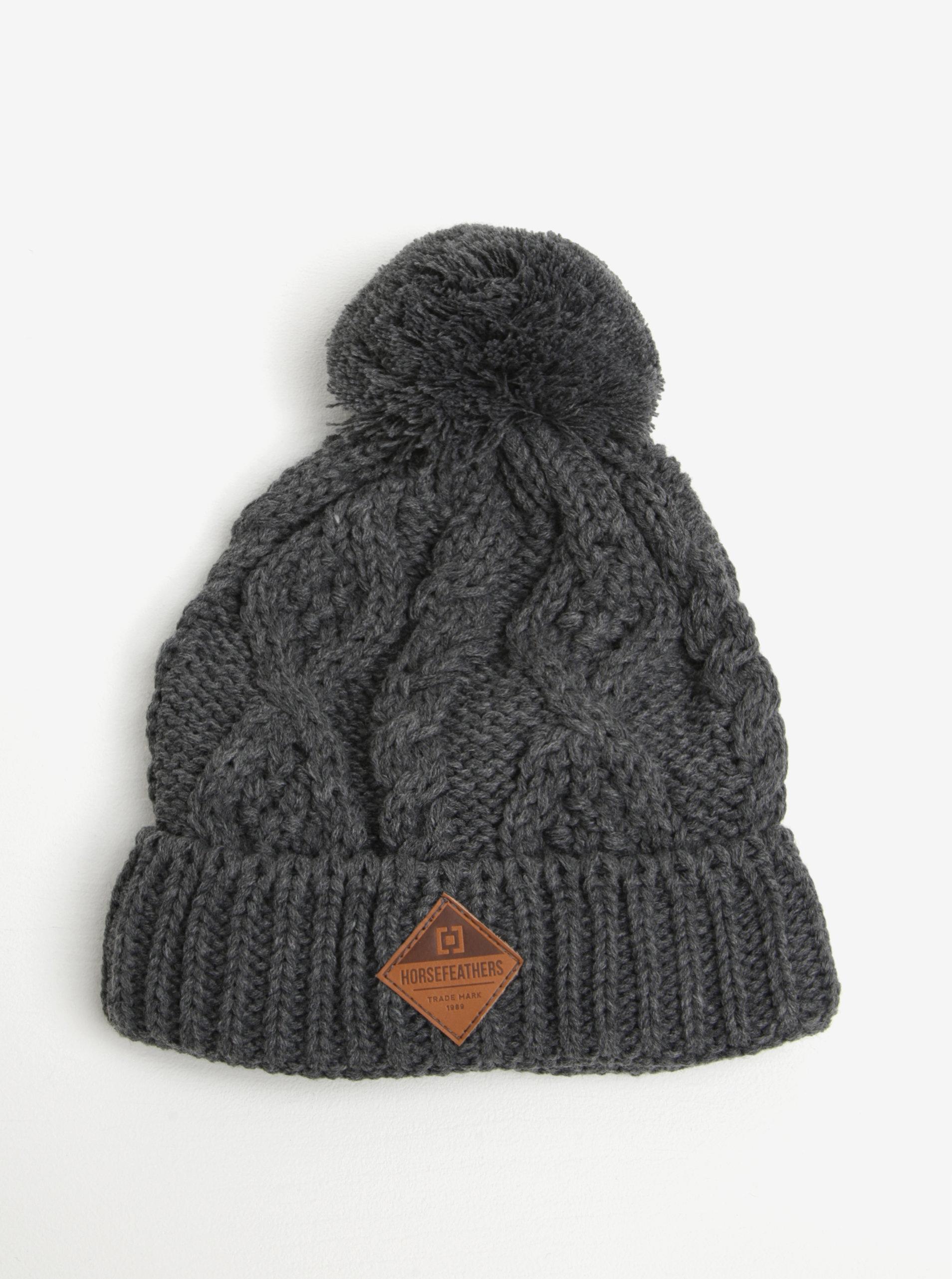 158ffde73 Sivá dámska zimná čiapka s brmbolcom Horsefeathers Gisa | ZOOT.sk
