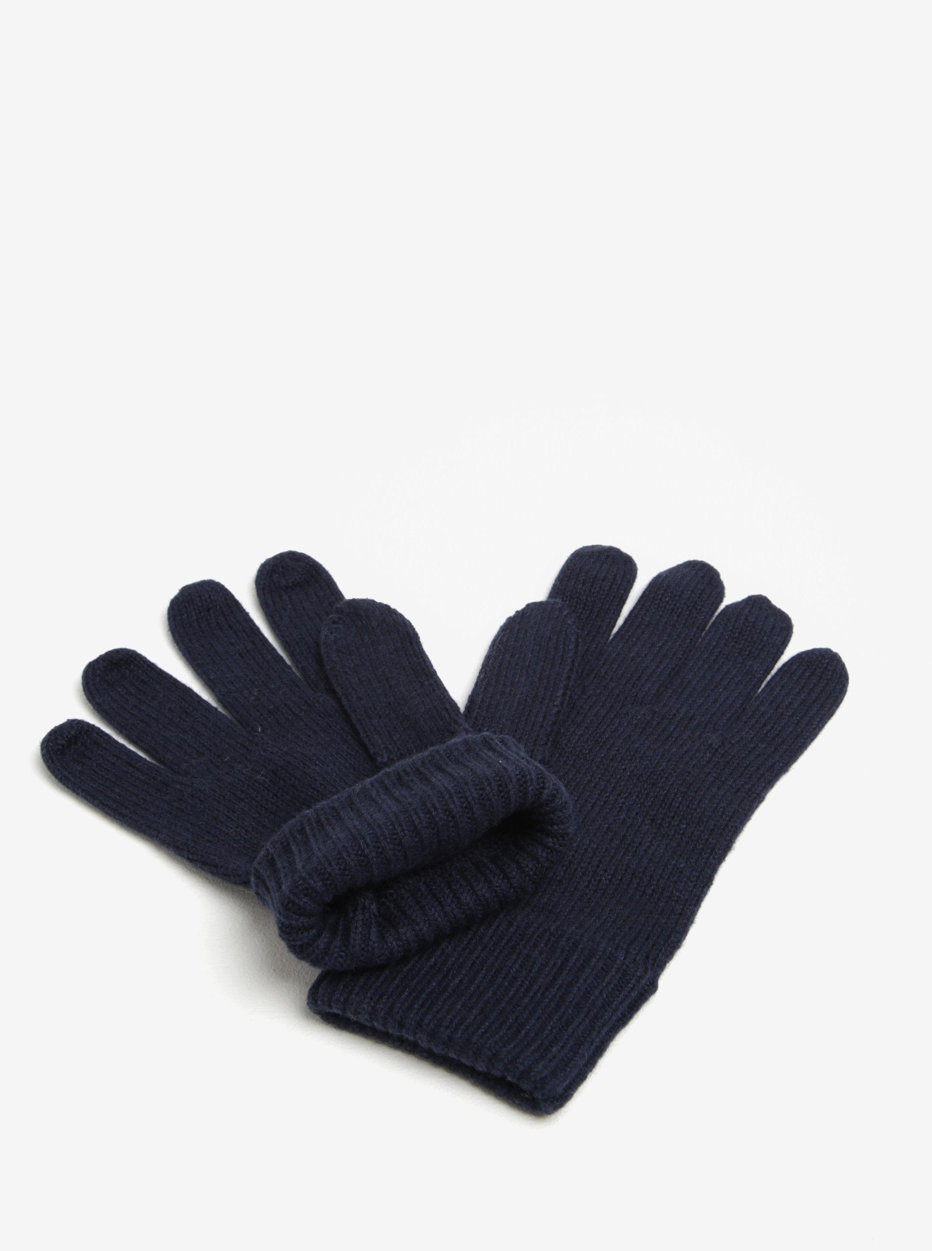 a5de9c04b9a Tmavě modré pánské rukavice Tommy Hilfiger ...