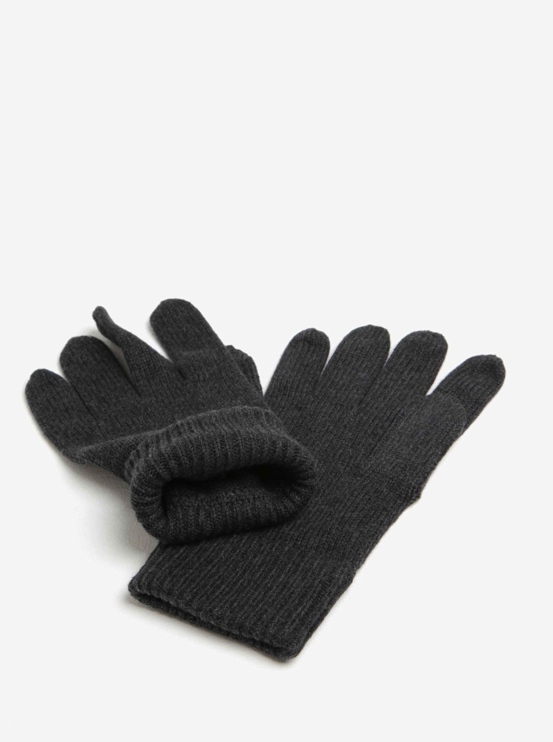 19808b7d373 Tmavě šedé pánské rukavice Tommy Hilfiger ...