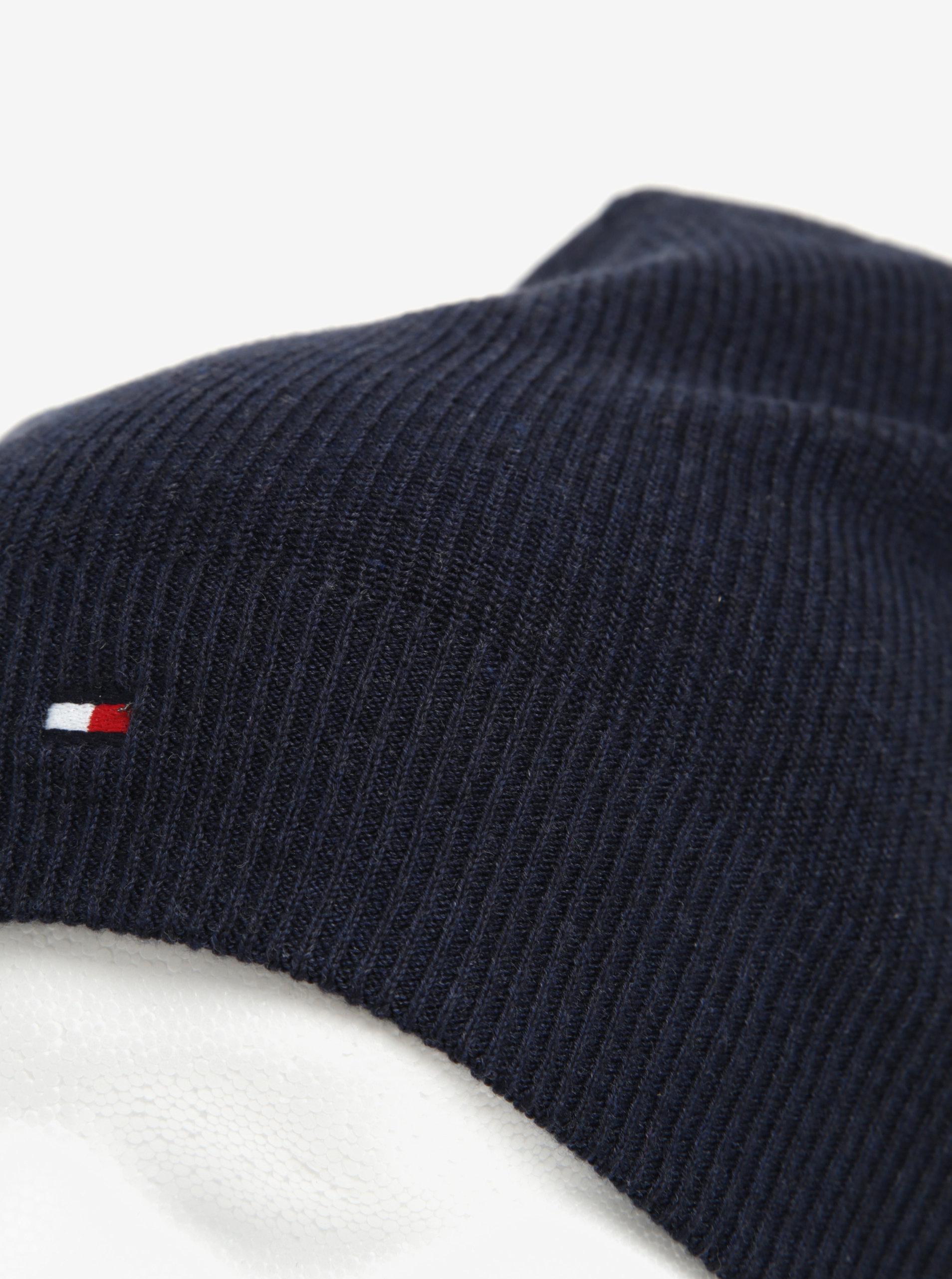 Tmavě modrá pánská čepice Tommy Hilfiger ... 5c49de616e