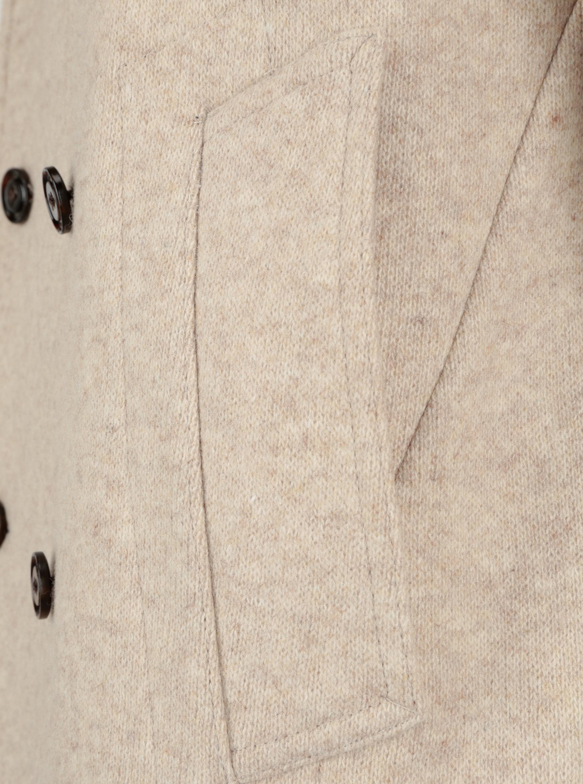 885a95827 Béžový pánsky krátky vlnený kabát Tommy Hilfiger Jersey   ZOOT.sk