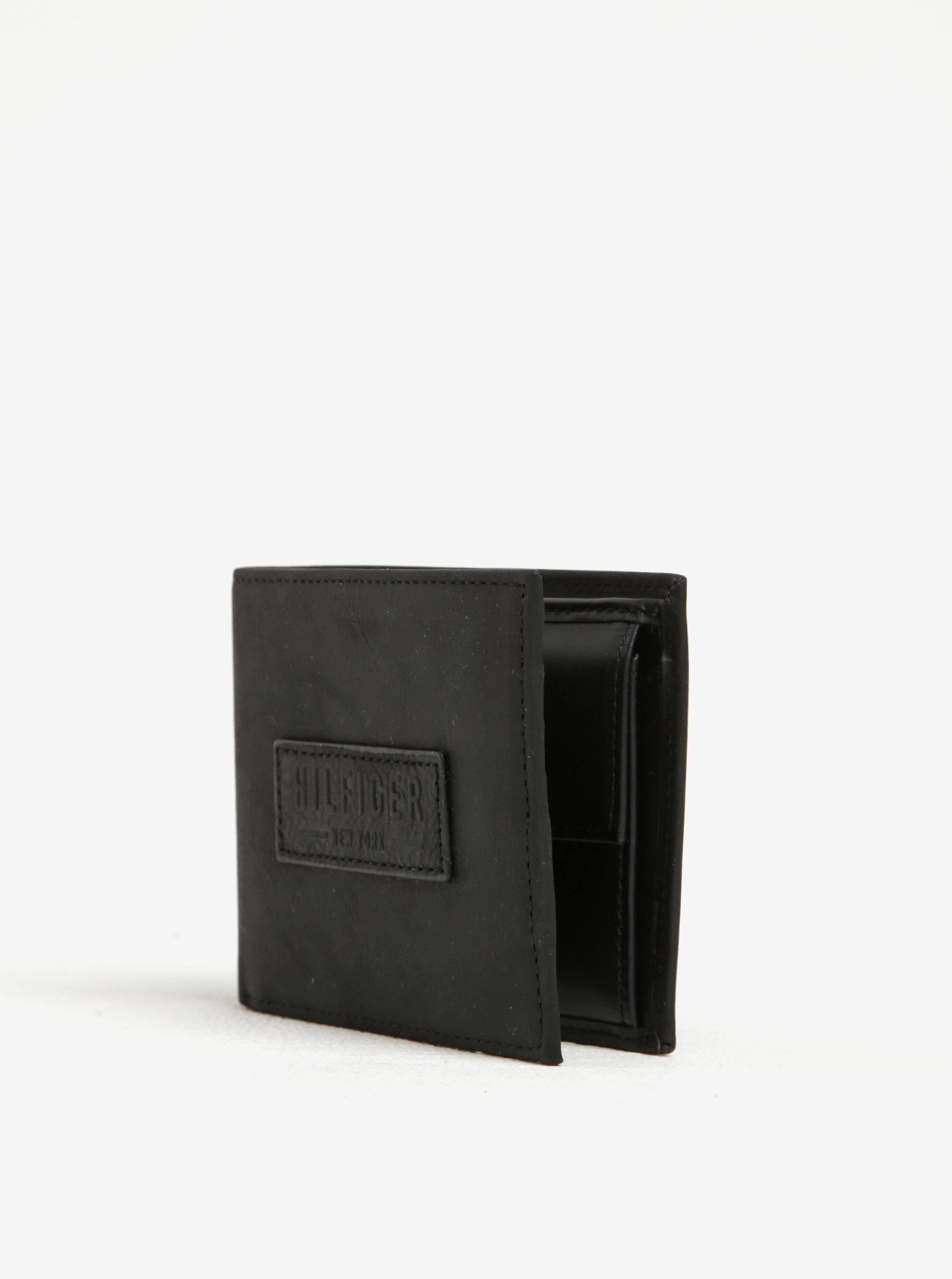 50663700a6 Čierna pánska kožená peňaženka Tommy Hilfiger ...
