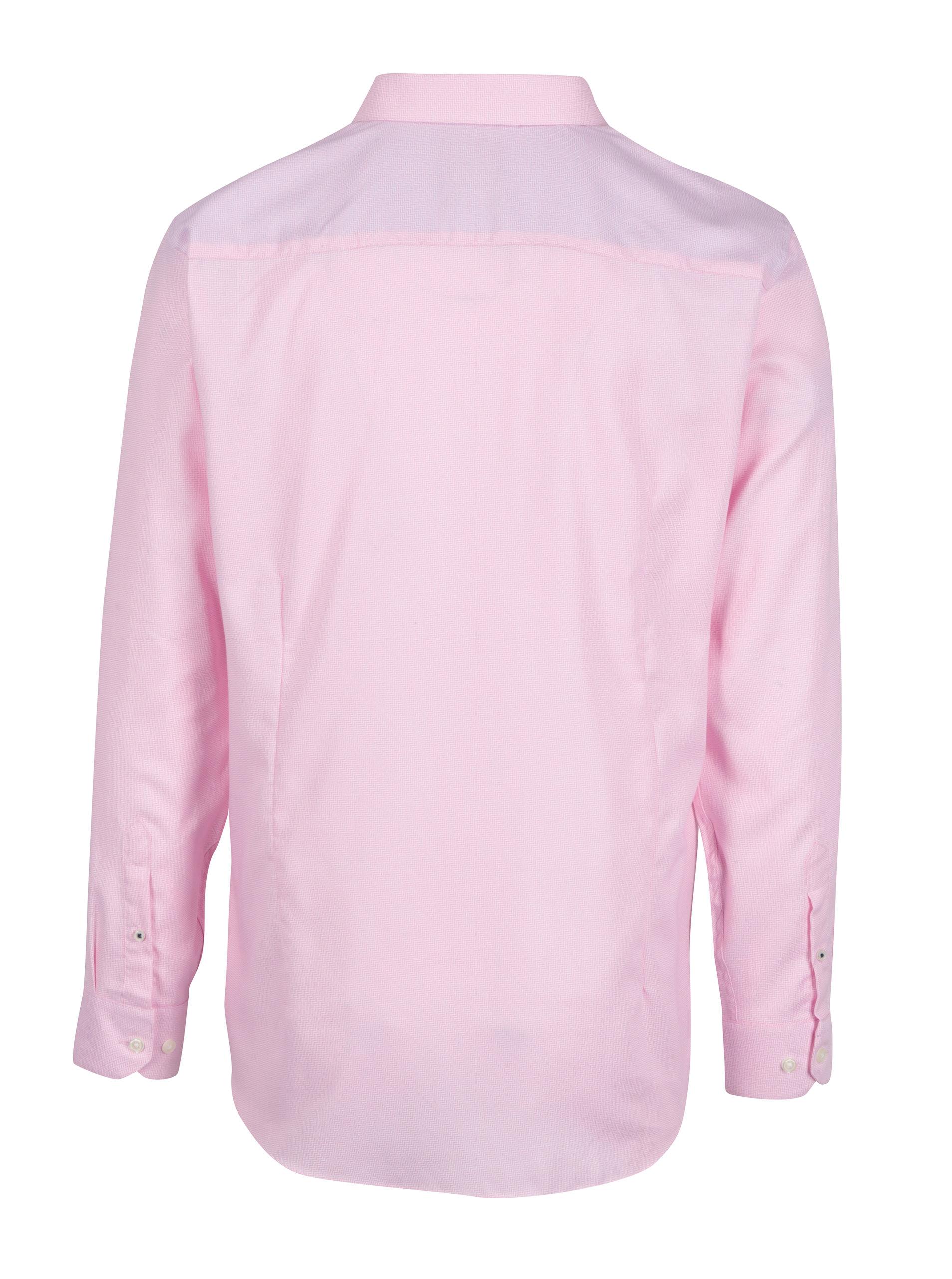 804eceee7e82 Ružová formálna tailored fit košeľa s jemným vzorom Burton Menswear London  ...