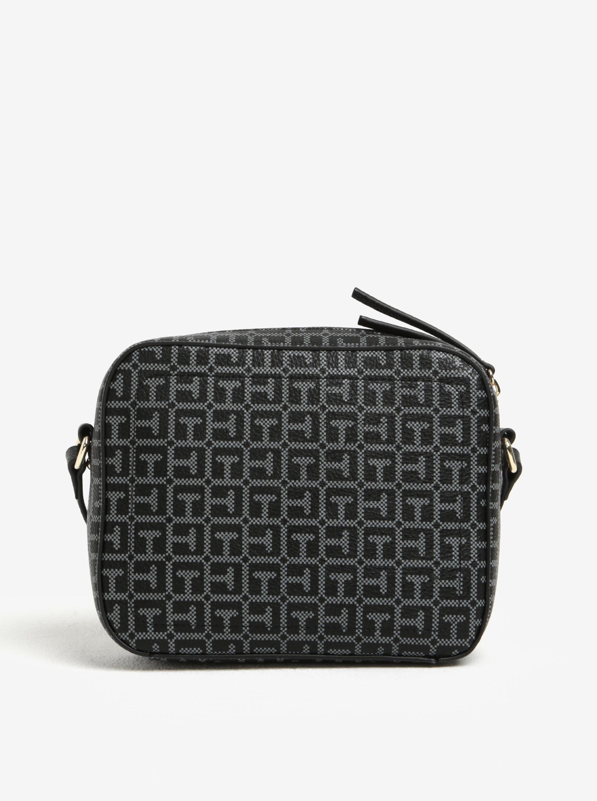 1facdbfda1 Sivo-čierna dámska vzorovaná crossbody kabelka Tommy Hilfiger ...