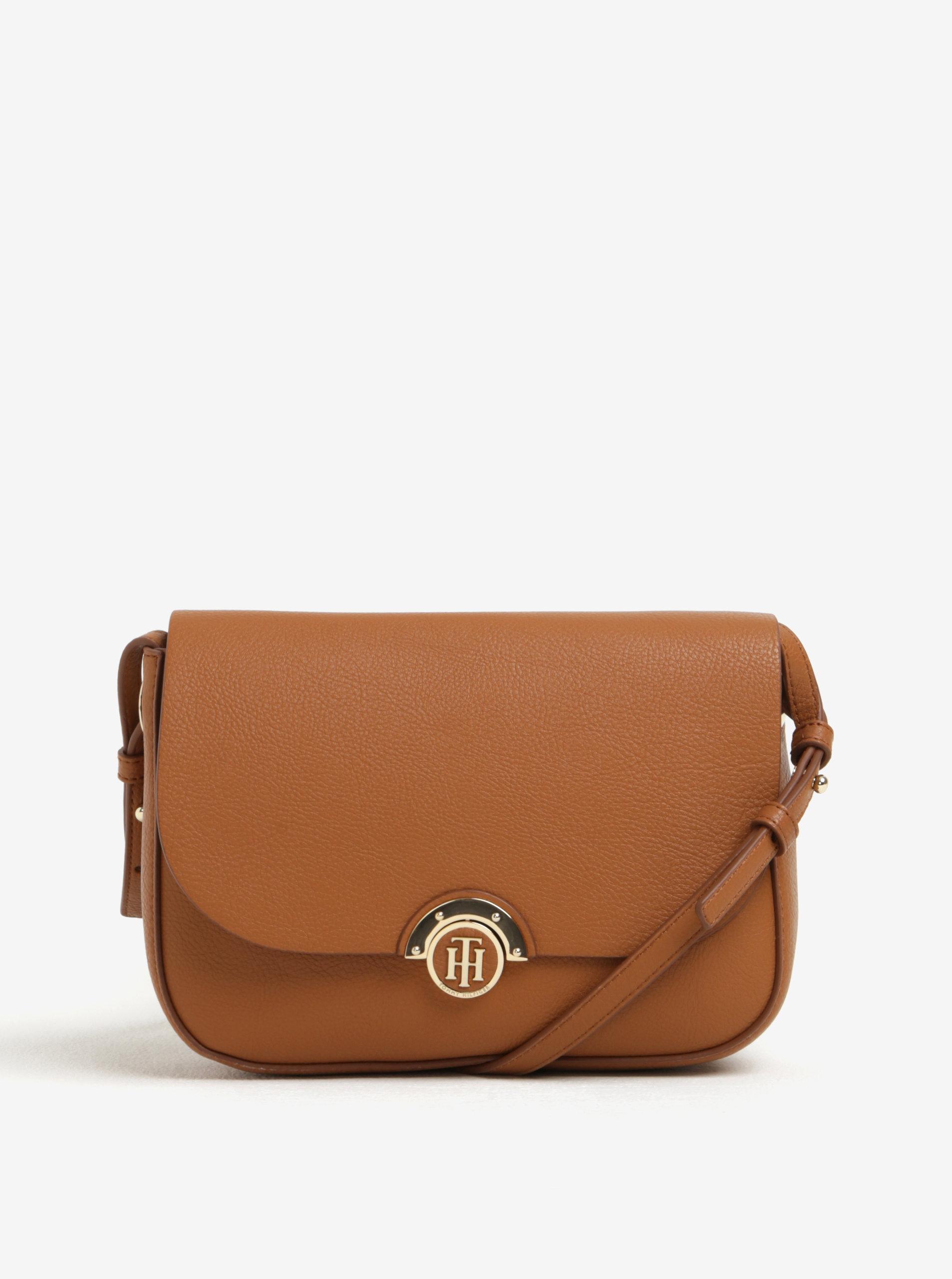 Hnedá dámska crossbody kabelka s obojstrannou chlopňou Tommy Hilfiger ... 39252483f4