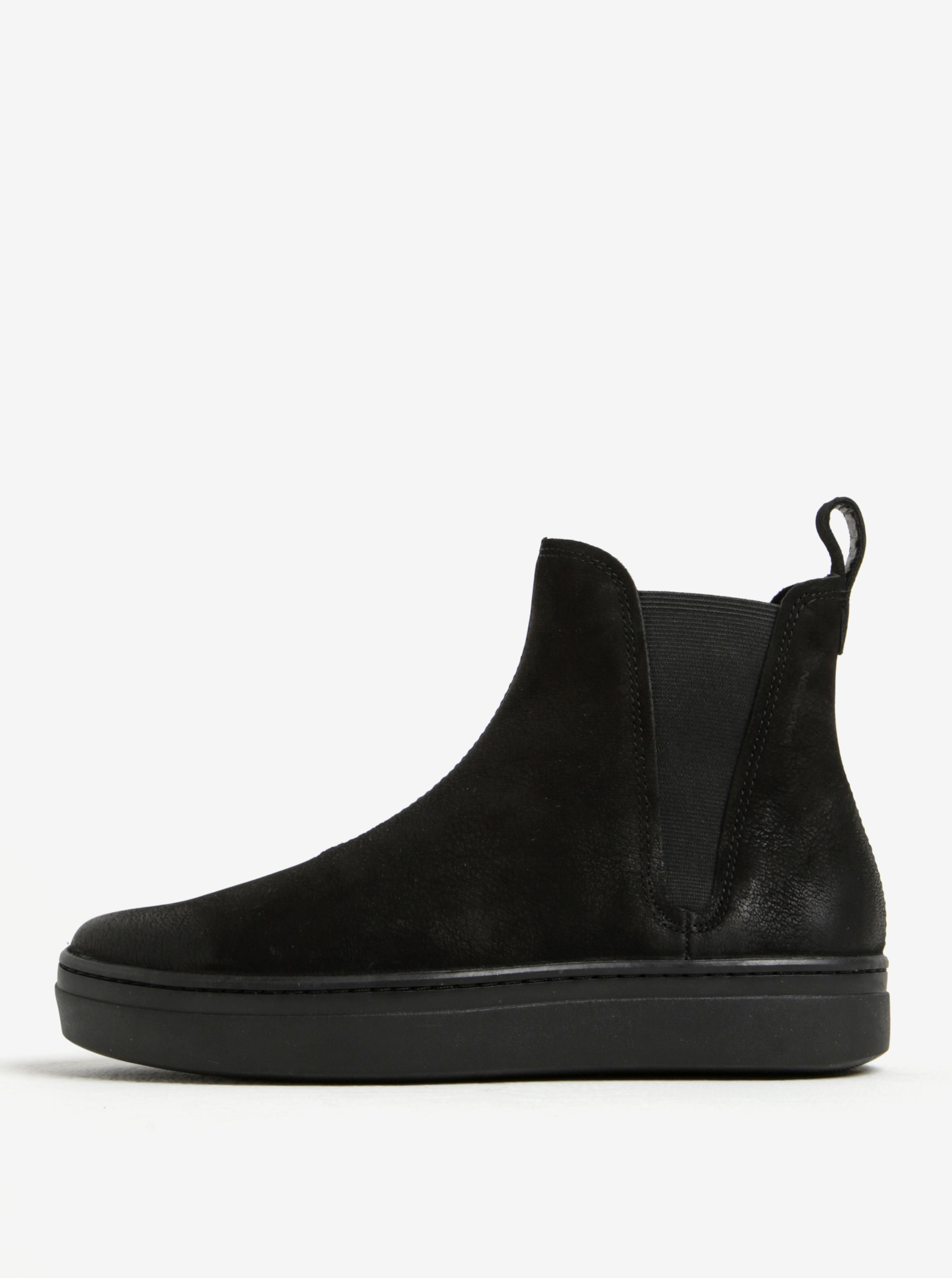 7f6f3ab50b04 Čierne dámske chelsea topánky z brúsenej kože na platforme Vagabond Camille  ...
