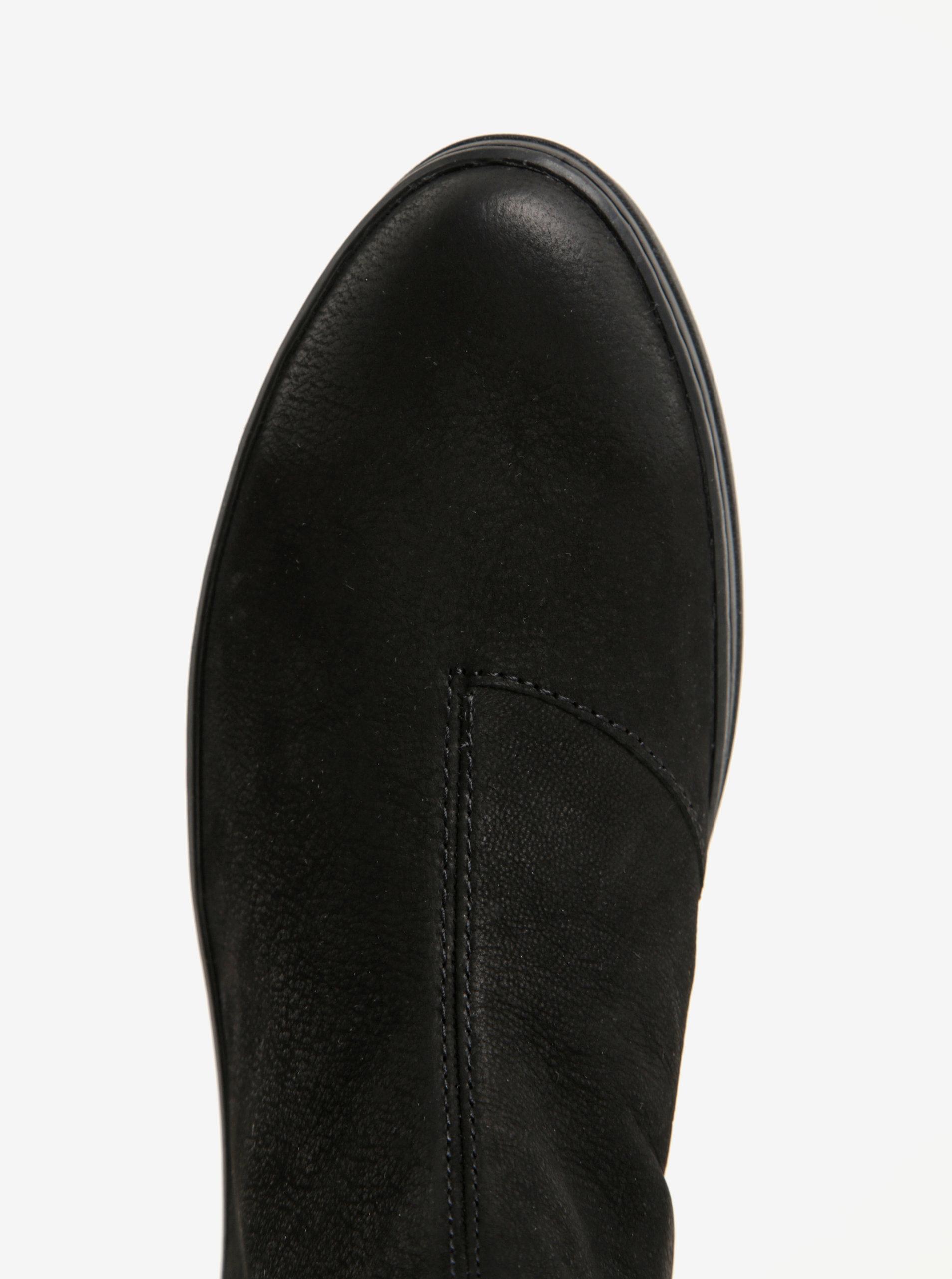 51eaac640d7c Čierne dámske chelsea topánky z brúsenej kože na platforme Vagabond Camille  ...