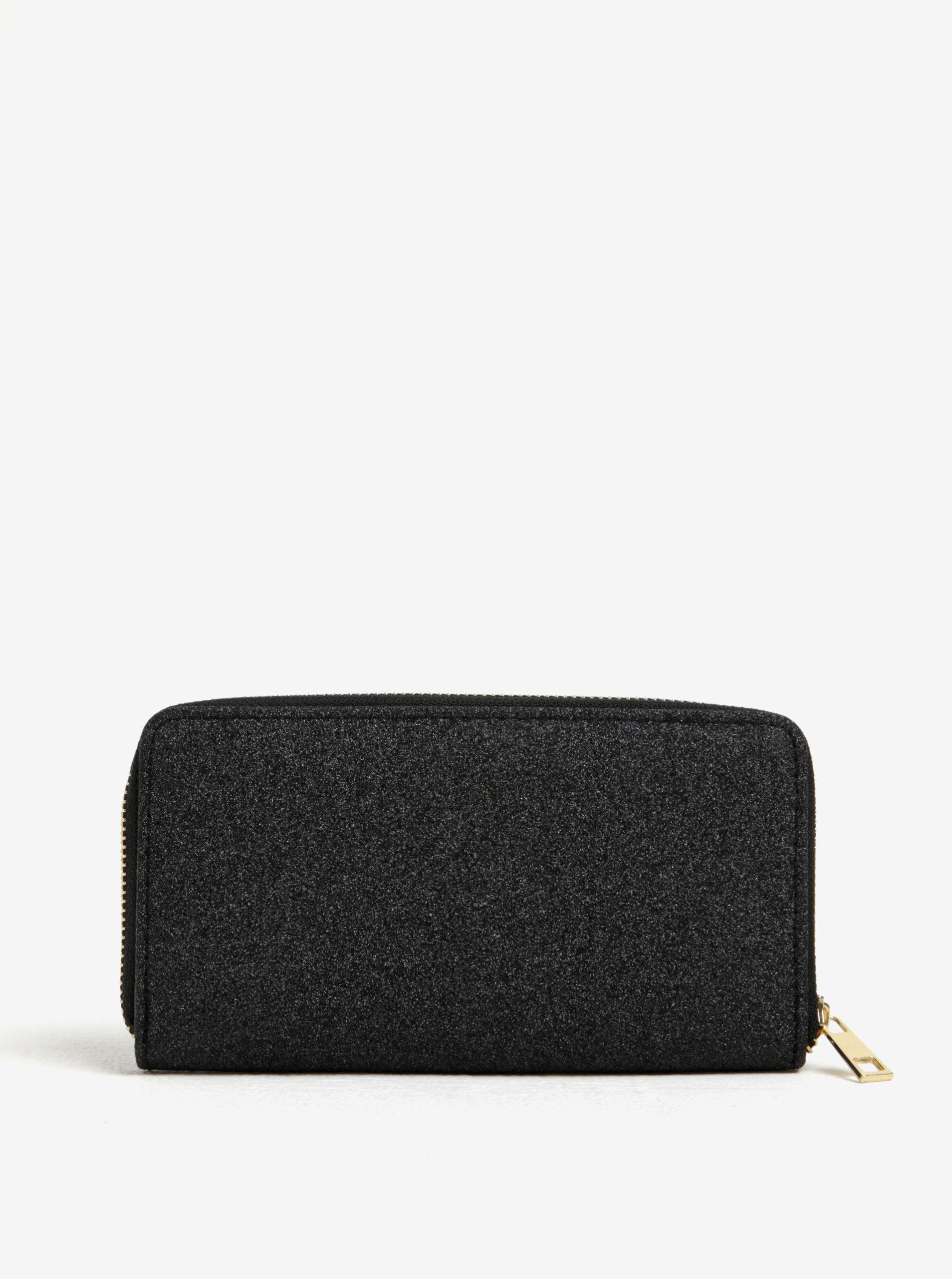 Černá třpytivá peněženka Haily´s Glitty