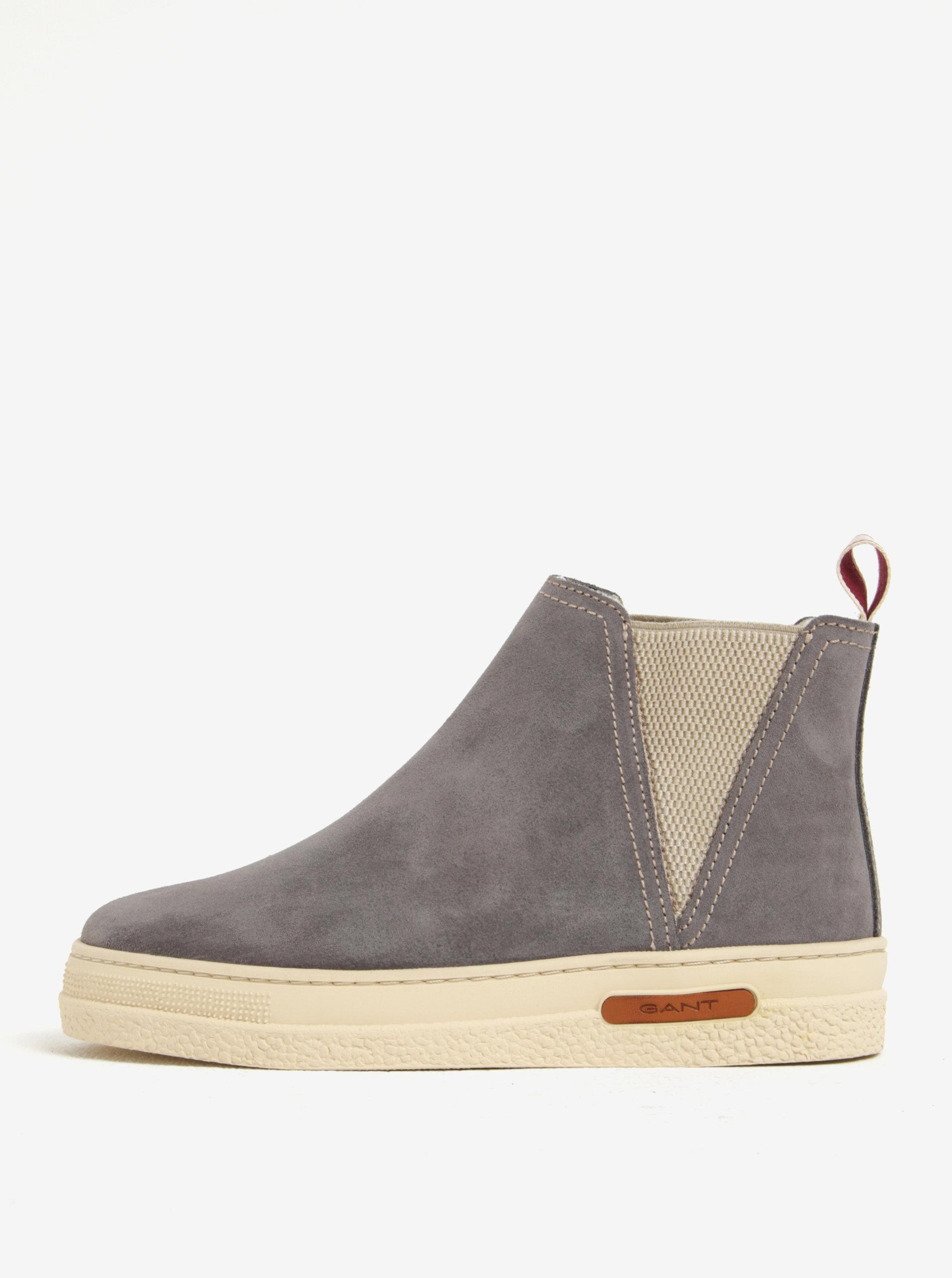 Šedé dámské zateplené semišové chelsea boty GANT Maria ... 79ece81db6
