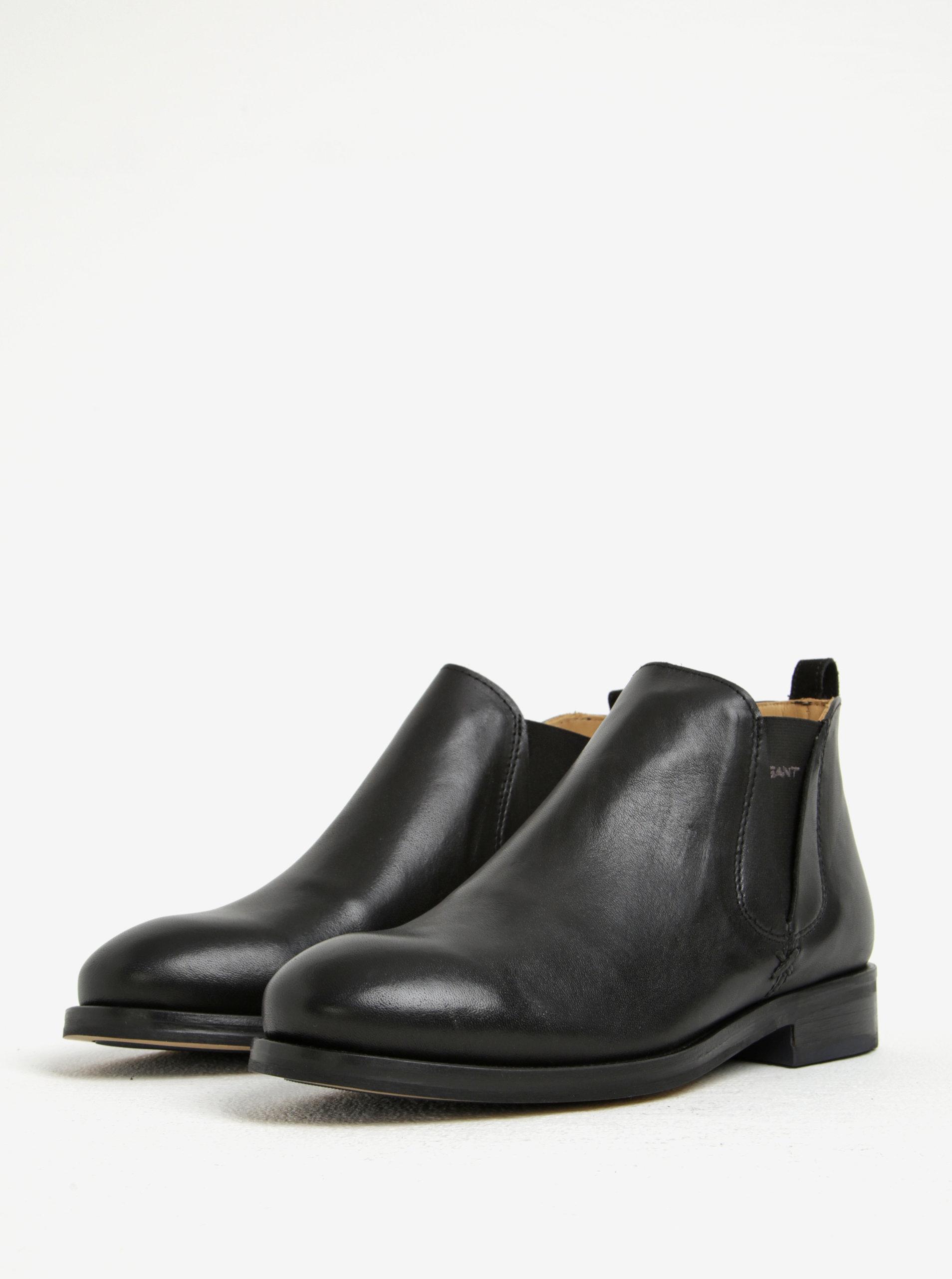 Čierne dámske kožené chelsea topánky GANT Avery ... 0562f5e75a1