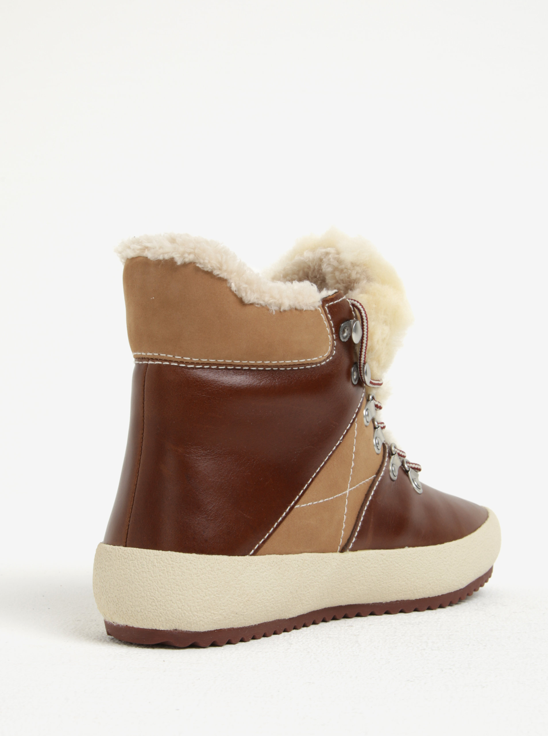 d756e4b3e921 Hnedé dámske kožené zateplené členkové topánky GANT Amy ...