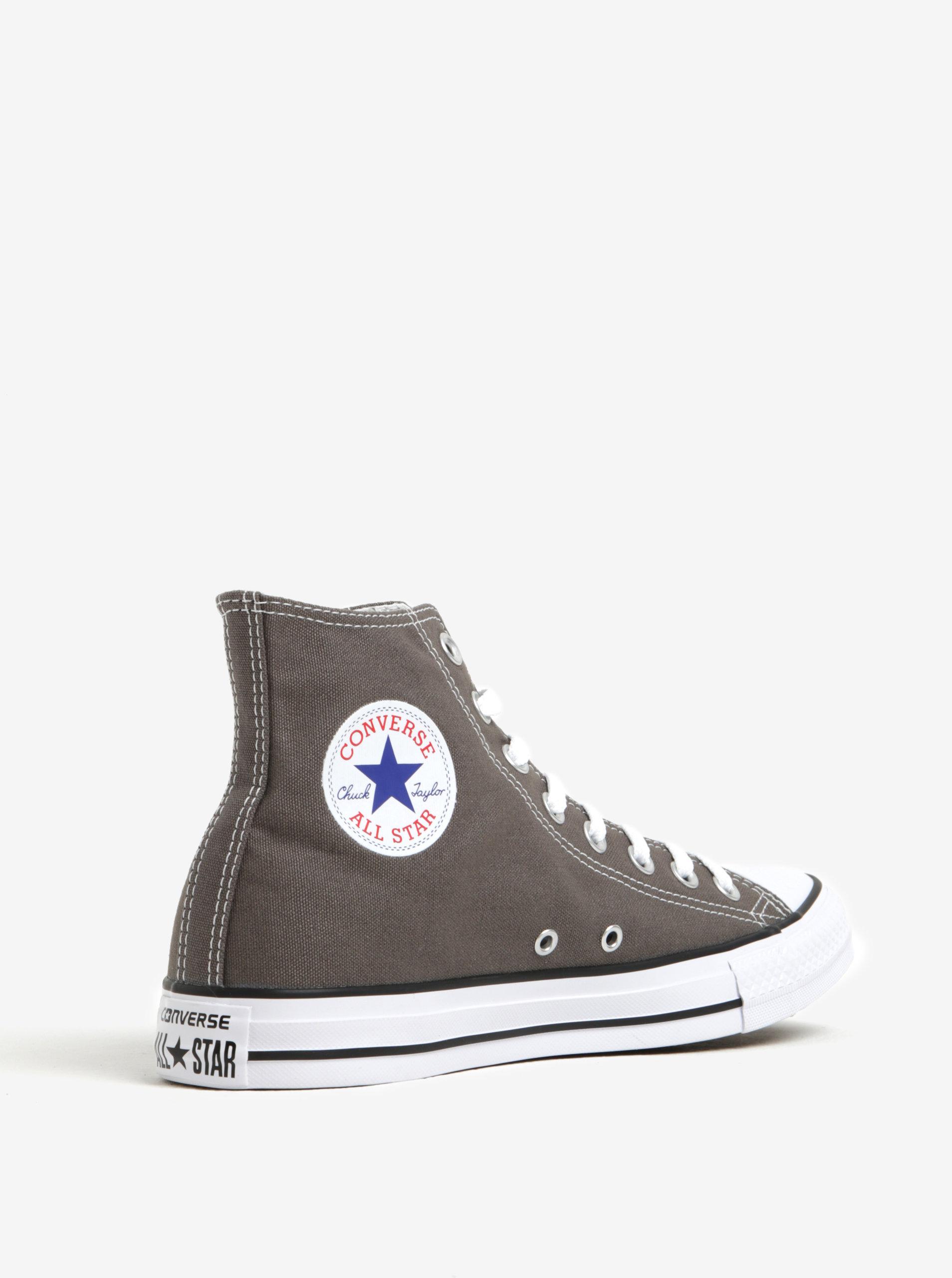 cad4fcae197 Šedé pánské kotníkové tenisky s logem Converse Chuck Taylor All Star ...