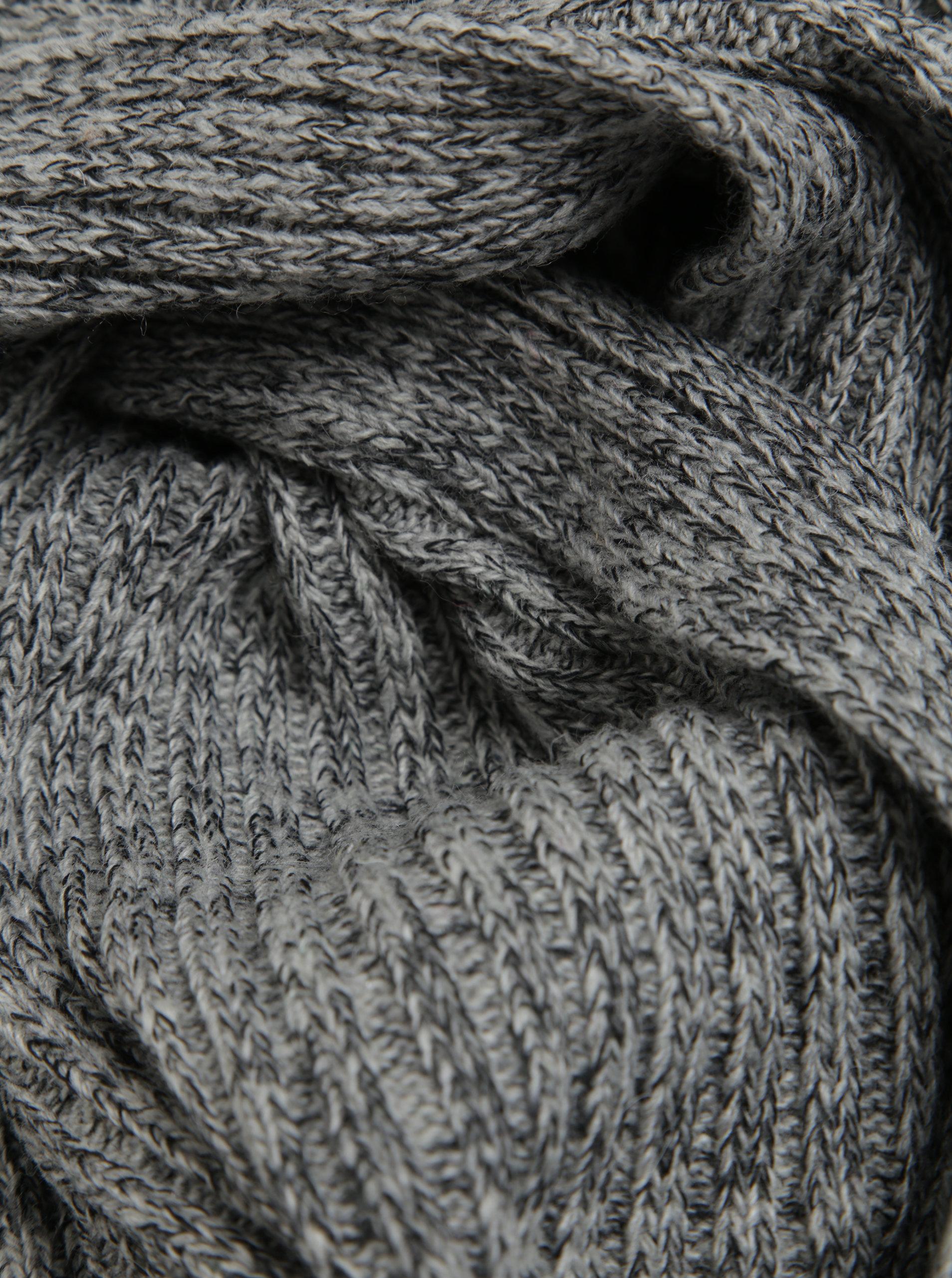 ac6defe2aae Světle šedá dámská žíhaná vlněná šála Calvin Klein Basic - Akční ...