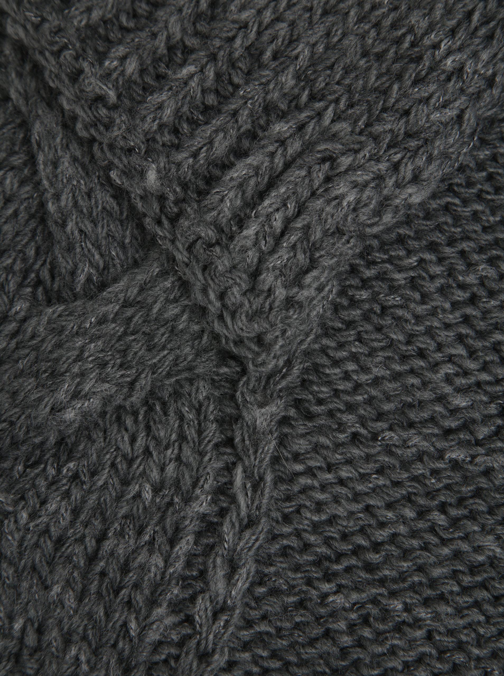 14358b739f8 Šedá dámská vlněná šála se vzorem Calvin Klein Elza - Akční cena ...