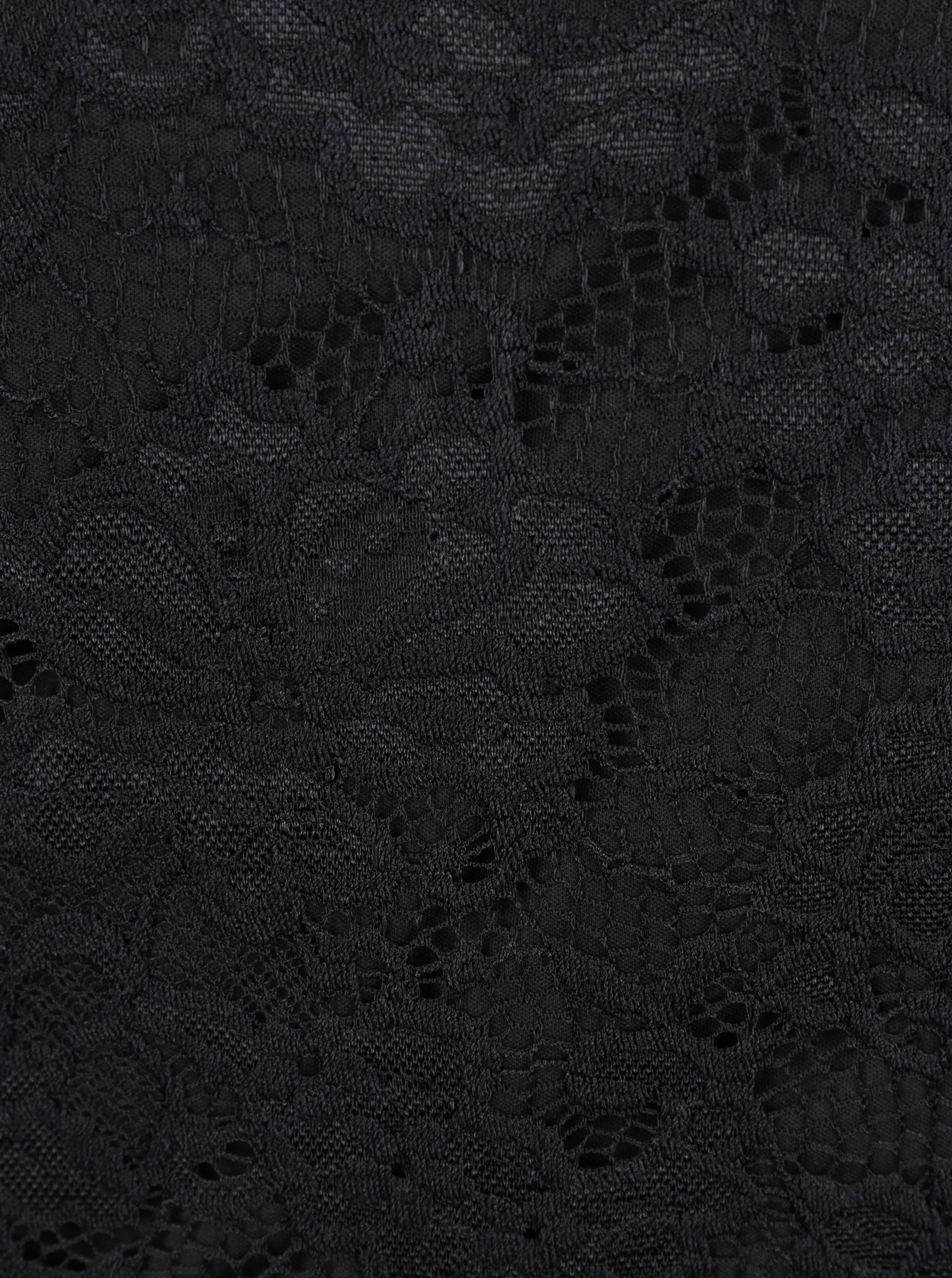 12e2c14d7b37 Čierny čipkovaný top s dlhým rukávom VERO MODA Joy ...