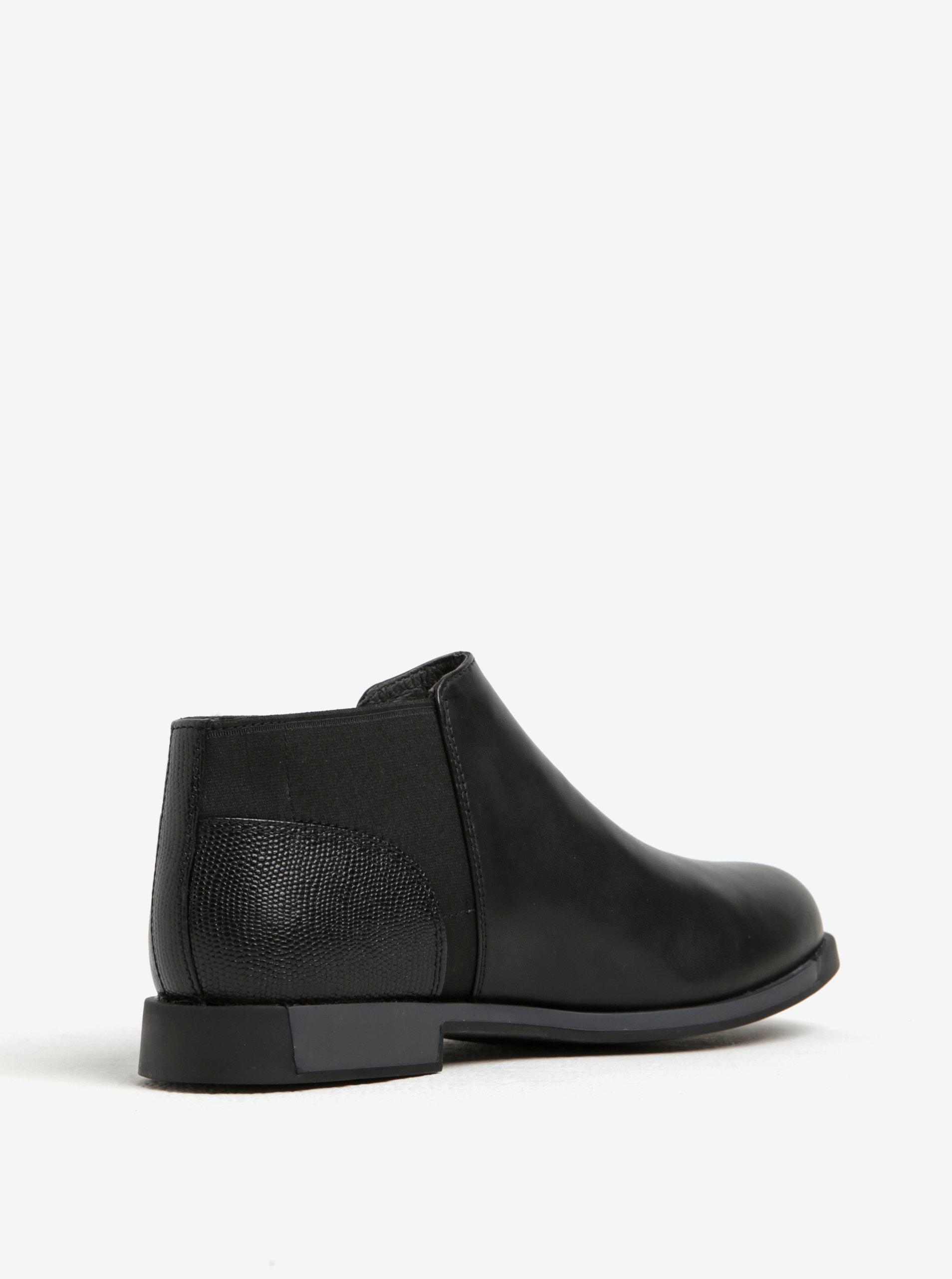 c65e4fb2a0849 Čierne dámske kožené nízke chelsea topánky Camper | ZOOT.sk