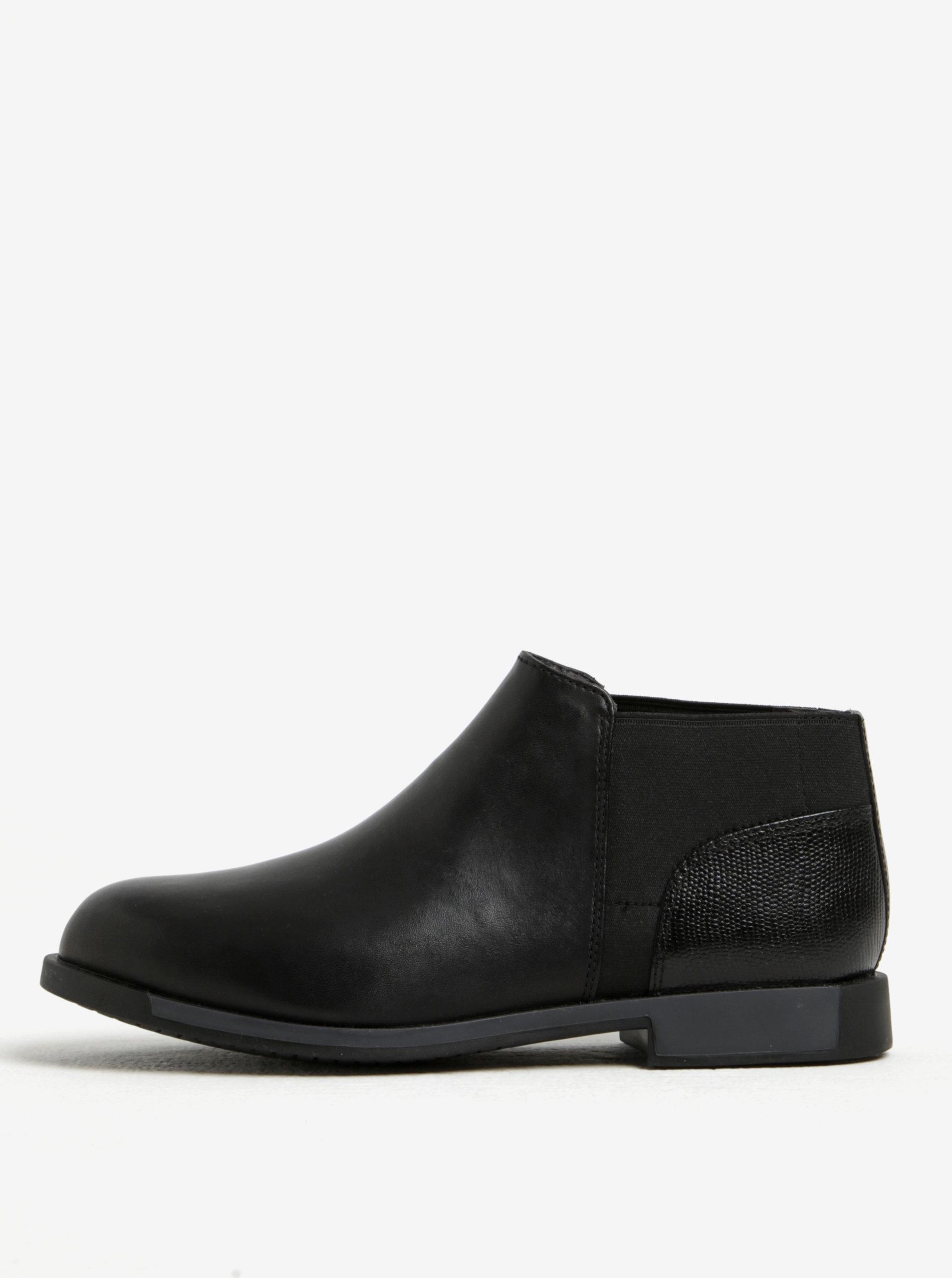 9f428b03fa Čierne dámske kožené nízke chelsea topánky Camper ...