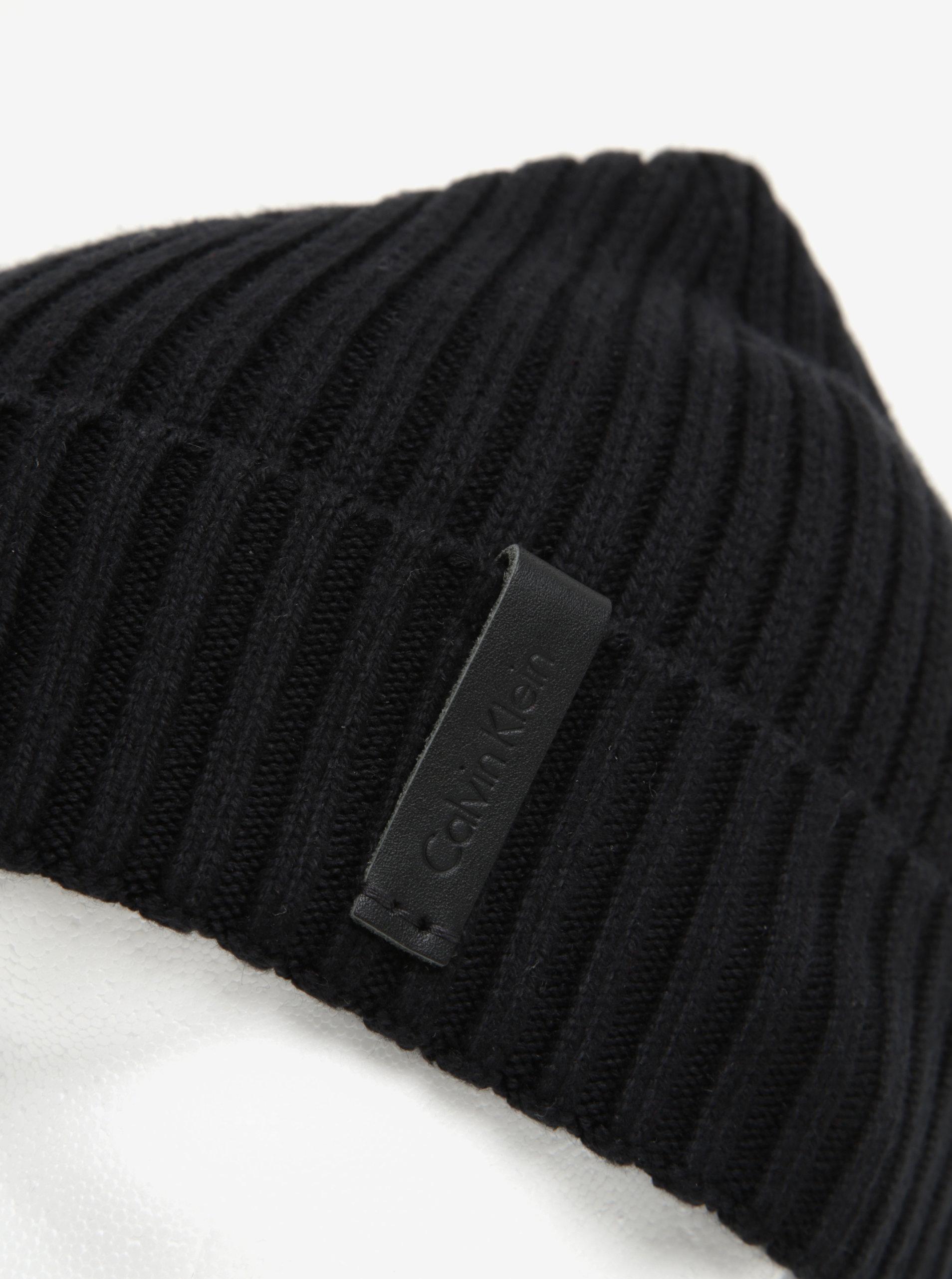 Černá pánská čepice Calvin Klein Jeans Octave ... ee849a6fa5