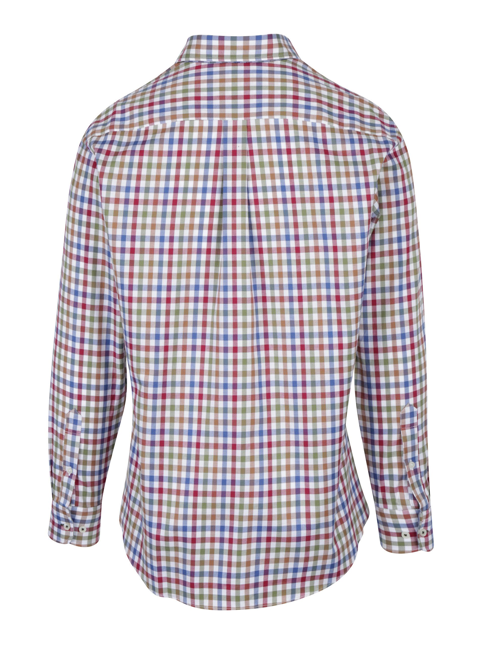 Krémovo-červená kostkovaná košile s náprsní kapsou Fynch-Hatton ... 16d4f831a0