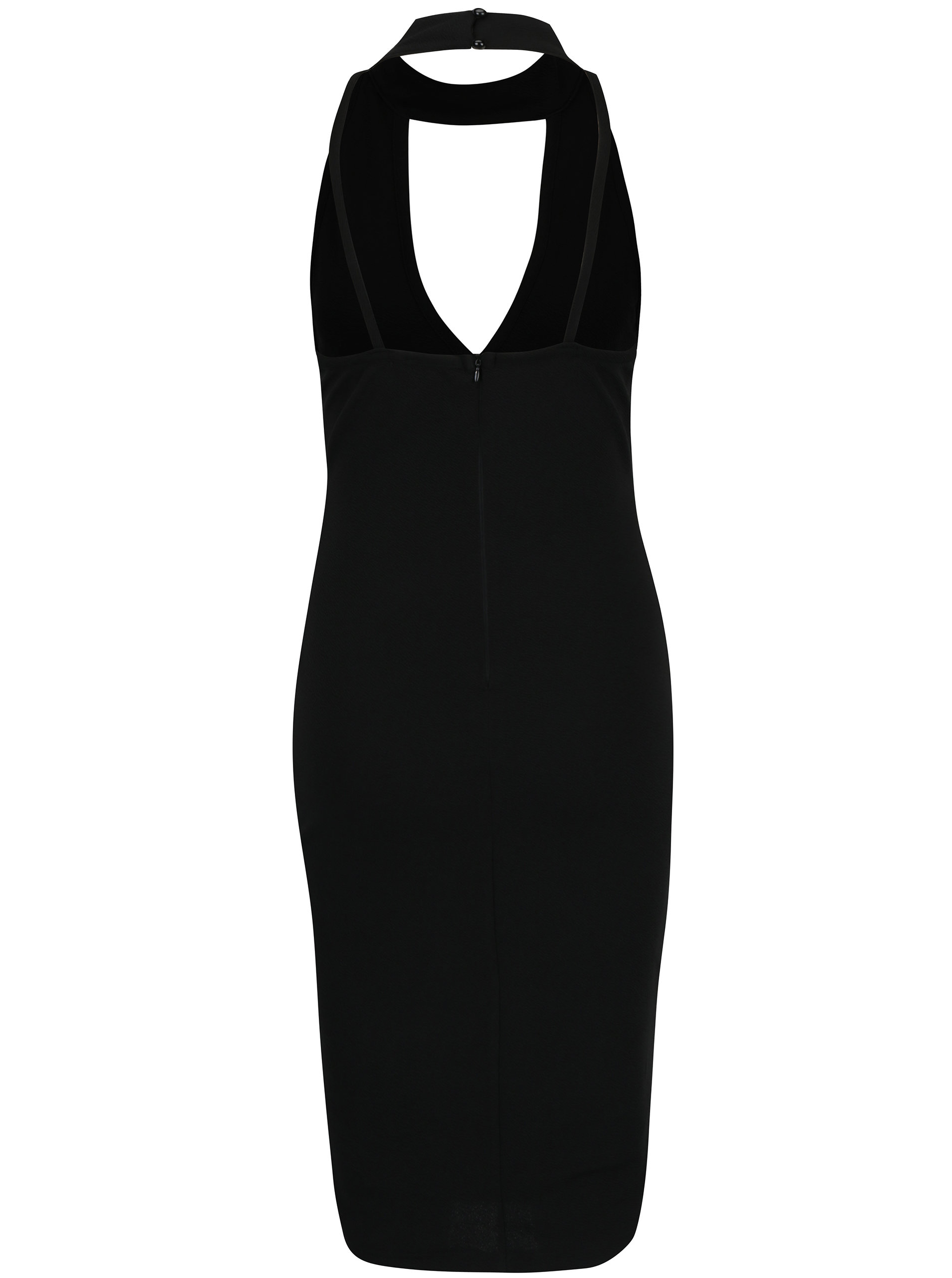 f96150a8cdf0 Čierne puzdrové šaty s chokerom a prestrihom v dekolte AX Paris ...