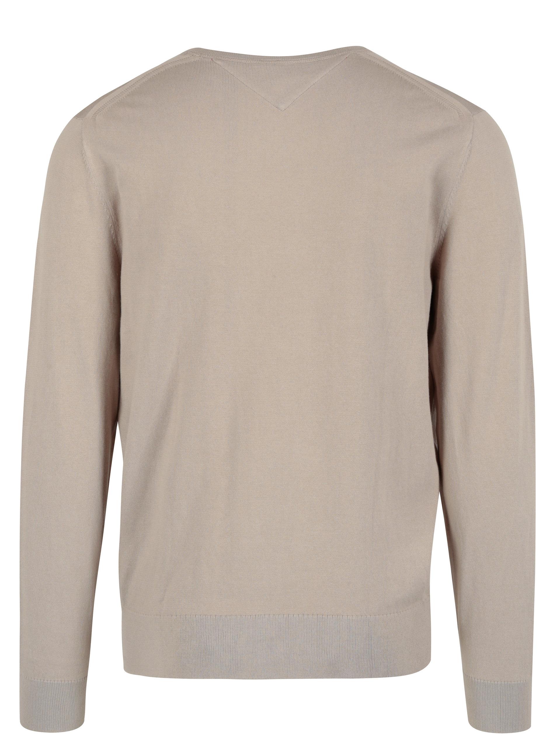 Béžový pánsky sveter Tommy Hilfiger Compact ... 308088ea353