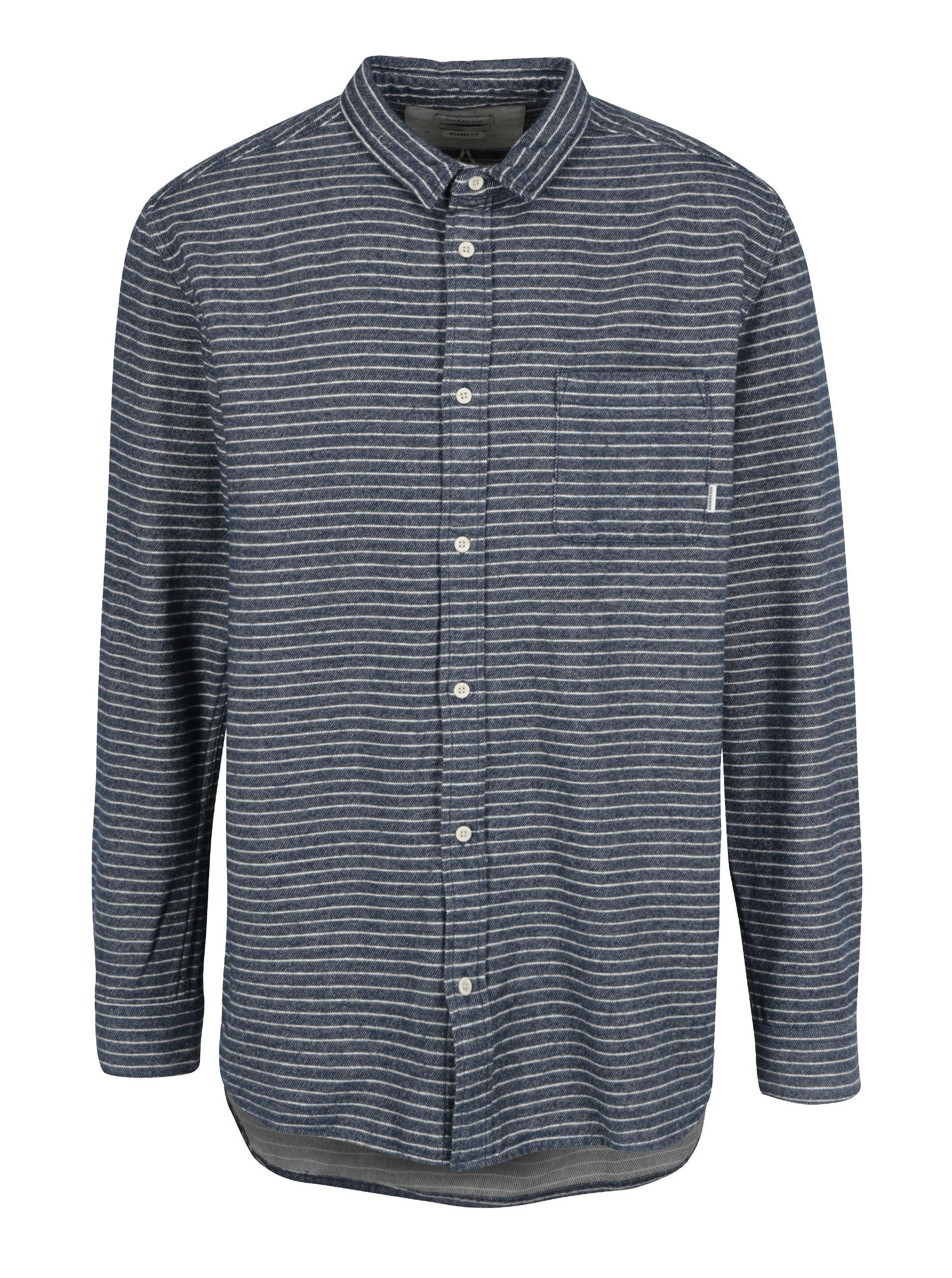 460c6867c8f9 Modrá pánska flanelová modern fit košeľa Quiksilver ...