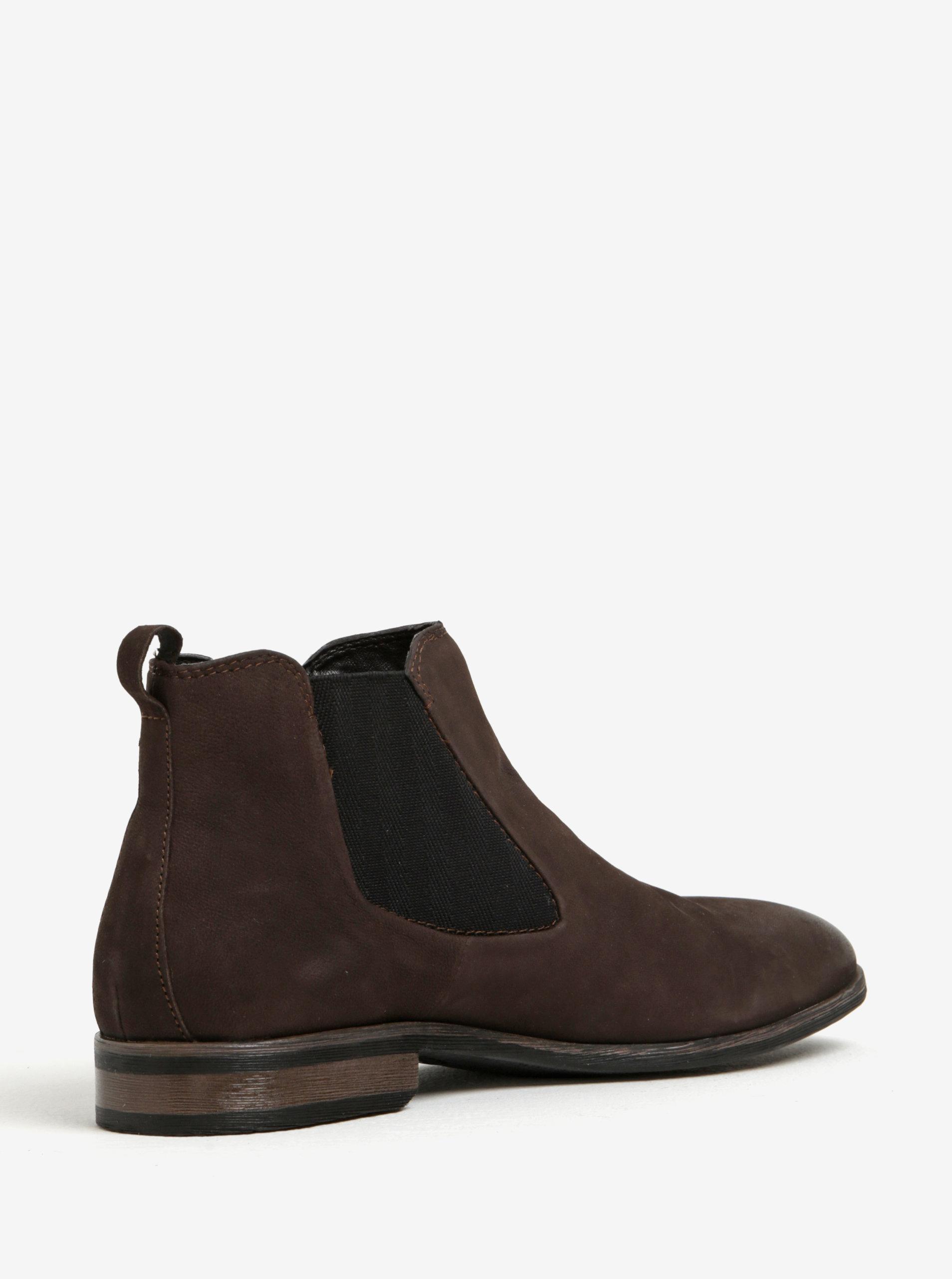 3367405bb1d8 Tmavohnedé pánske kožené chelsea topánky bugatti Lothario ...