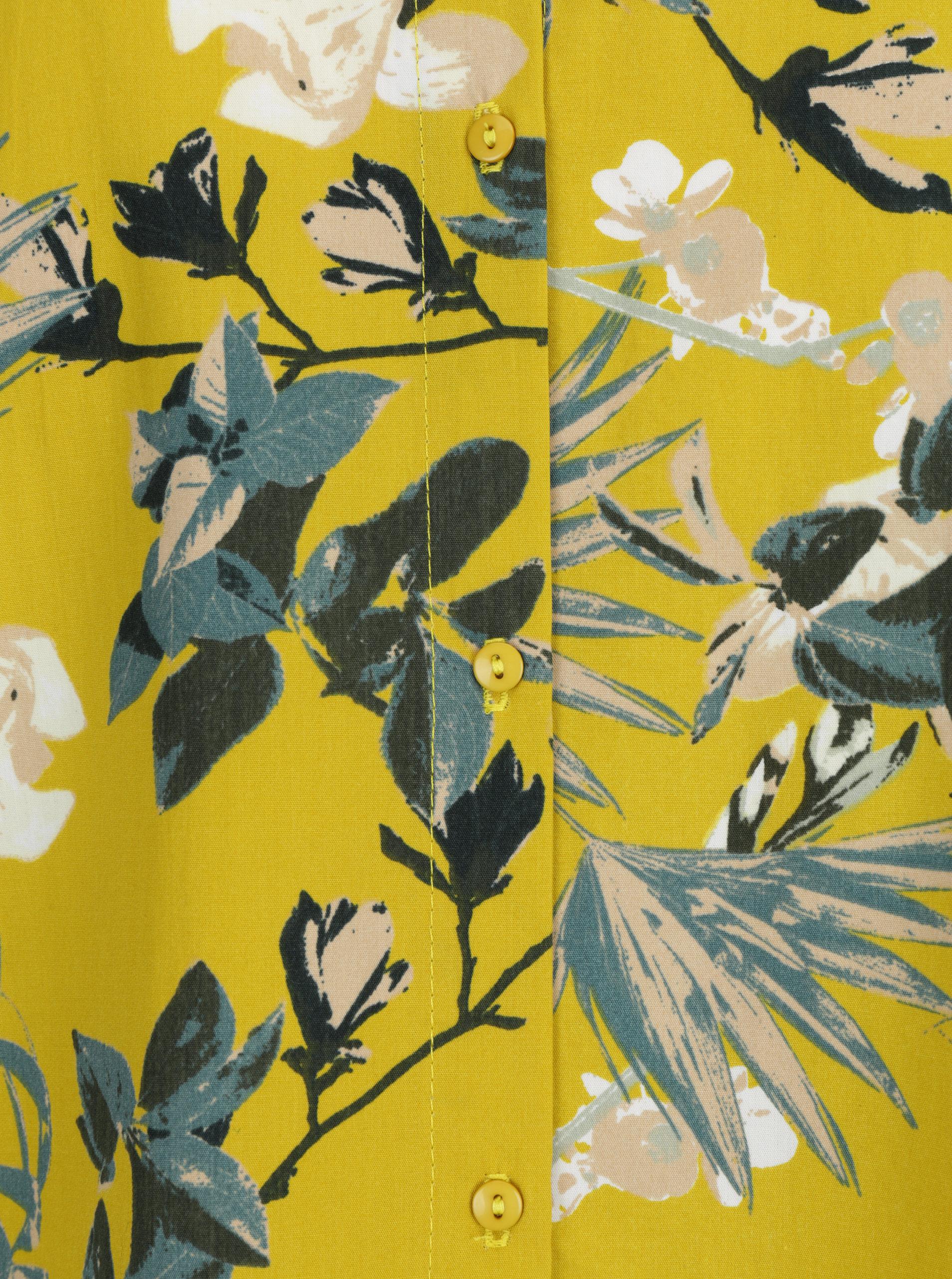 Žluté volné květované šaty s knoflíky na zádech VILA Sephora ... cdc9b53d67