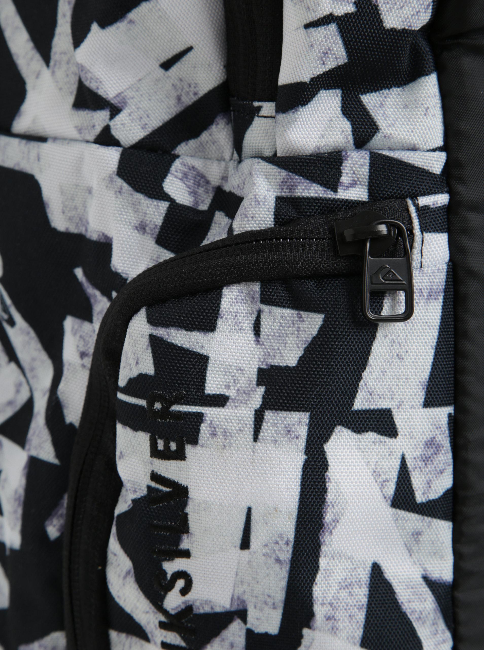 183792a045 Černý vzorovaný pánský batoh Quiksilver 28l ...