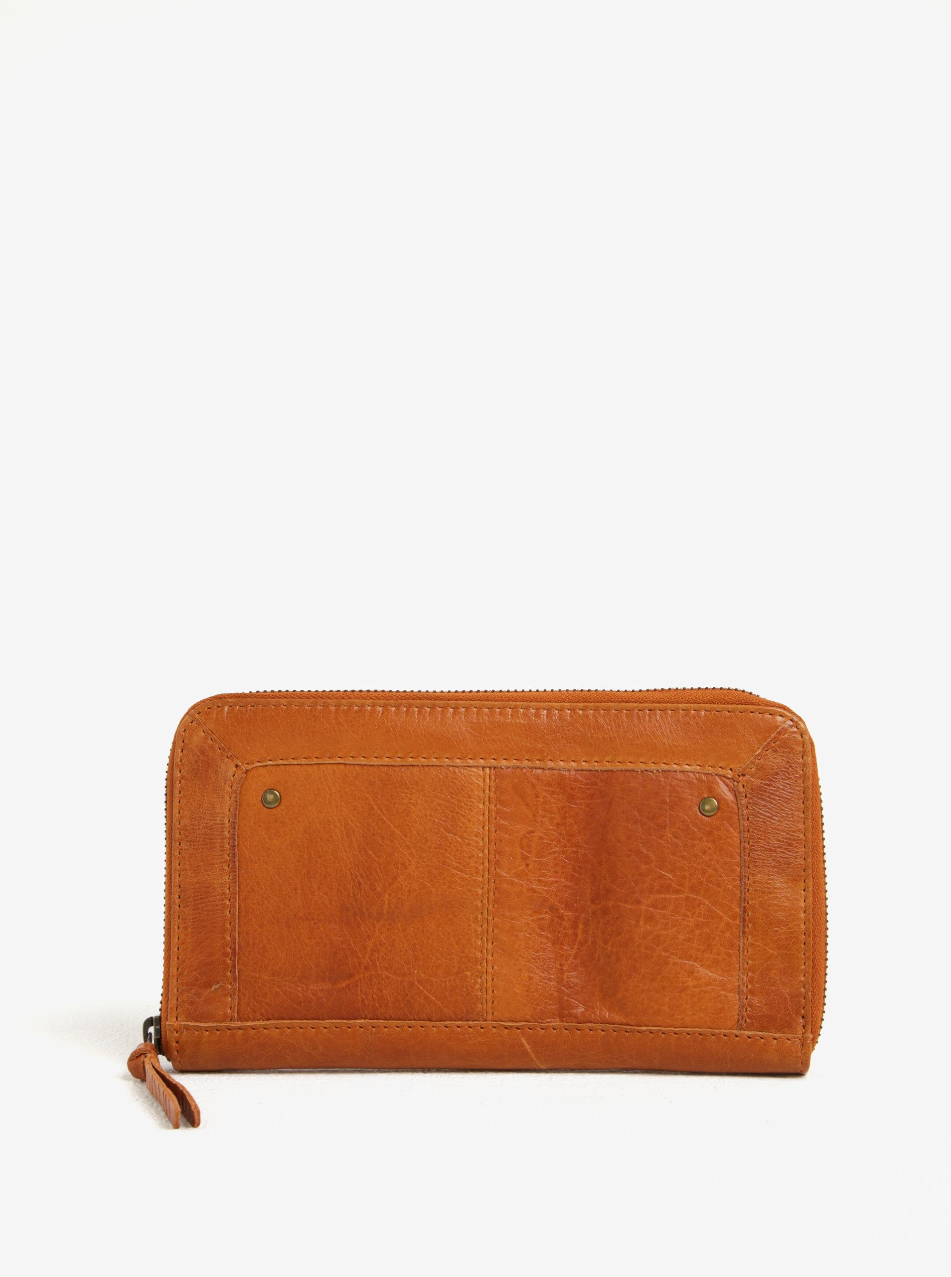 Hnedá dámska kožená peňaženka Pieces Vibs ... 67cc6854648