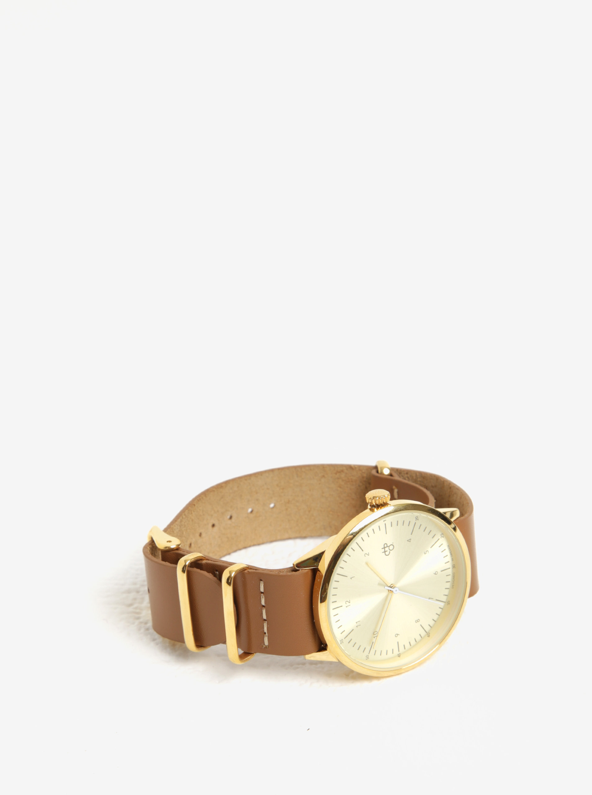Dámské hodinky s hnědým koženým páskem CHPO Harold ... 96176edb42