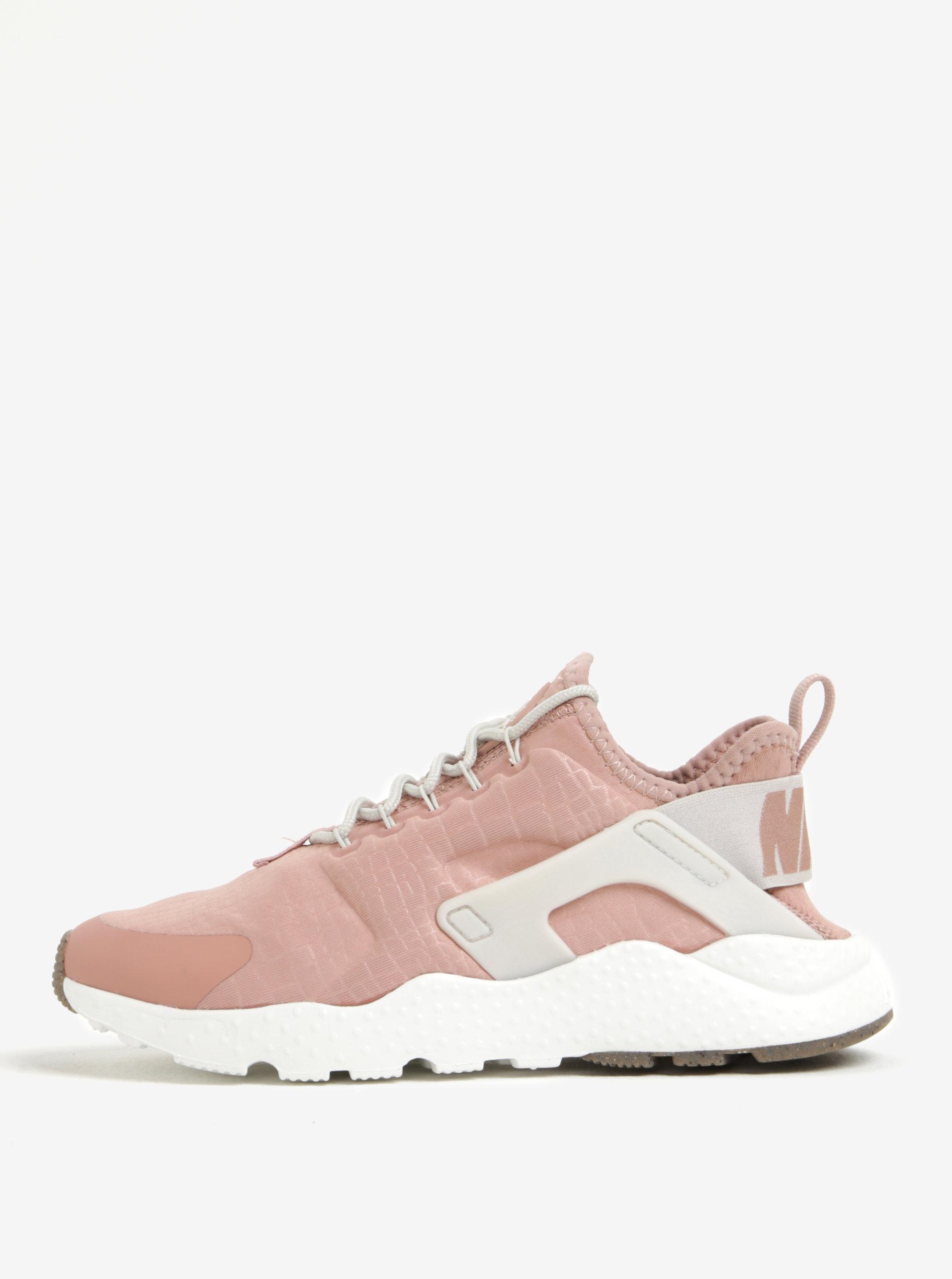 bec51a133ca Světle růžové dámské tenisky Nike Air Huarache run ...