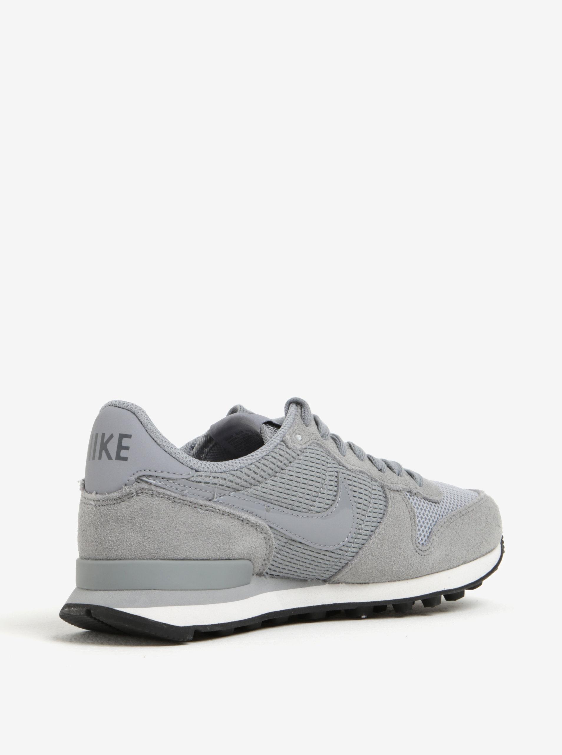 Sivé dámske tenisky so semišovými detailmi Nike Internationalist ... f18d4cb9f47