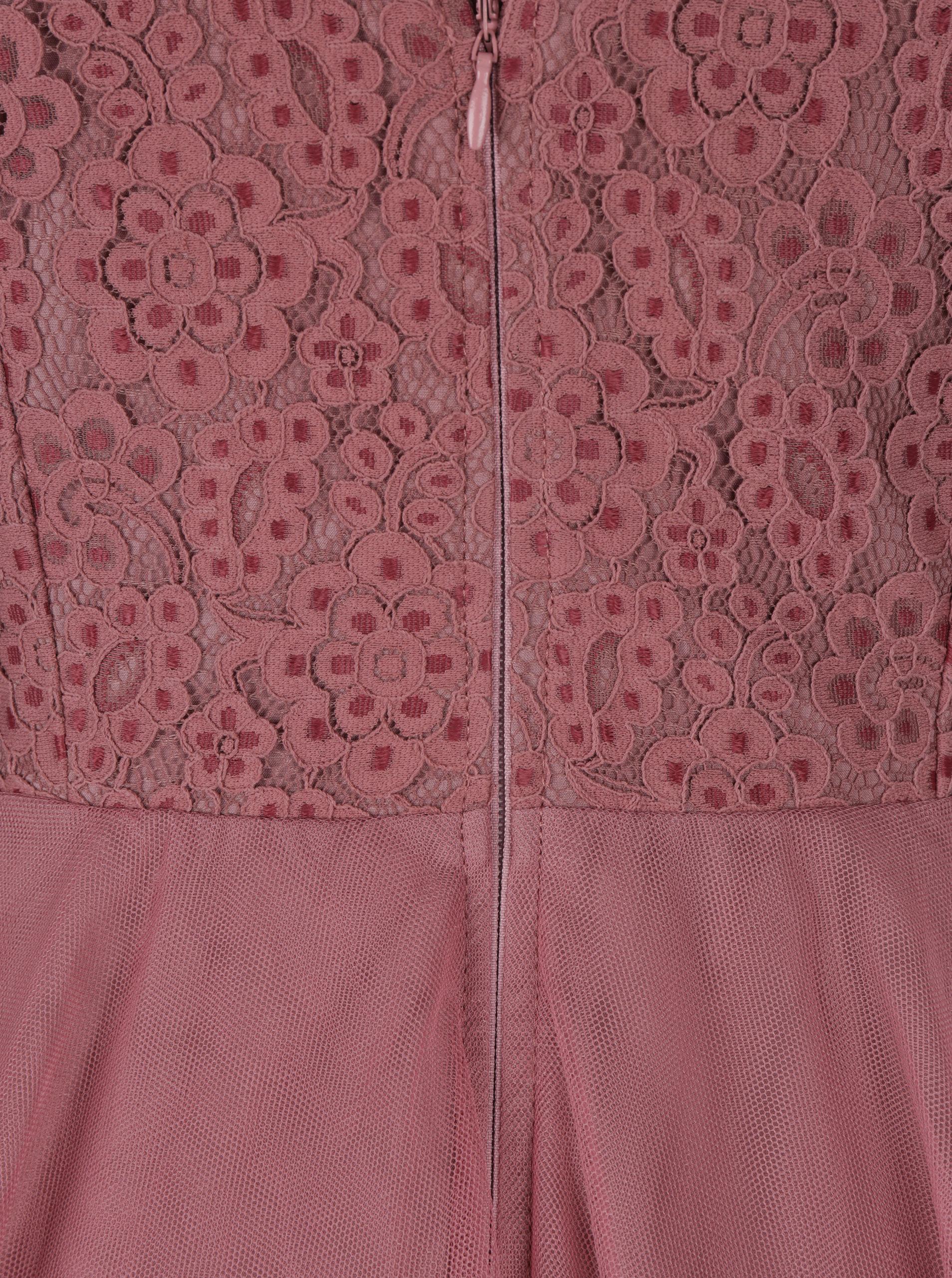 07731a3c315 Tmavě růžové šaty s tylovou sukní Little Mistress ...