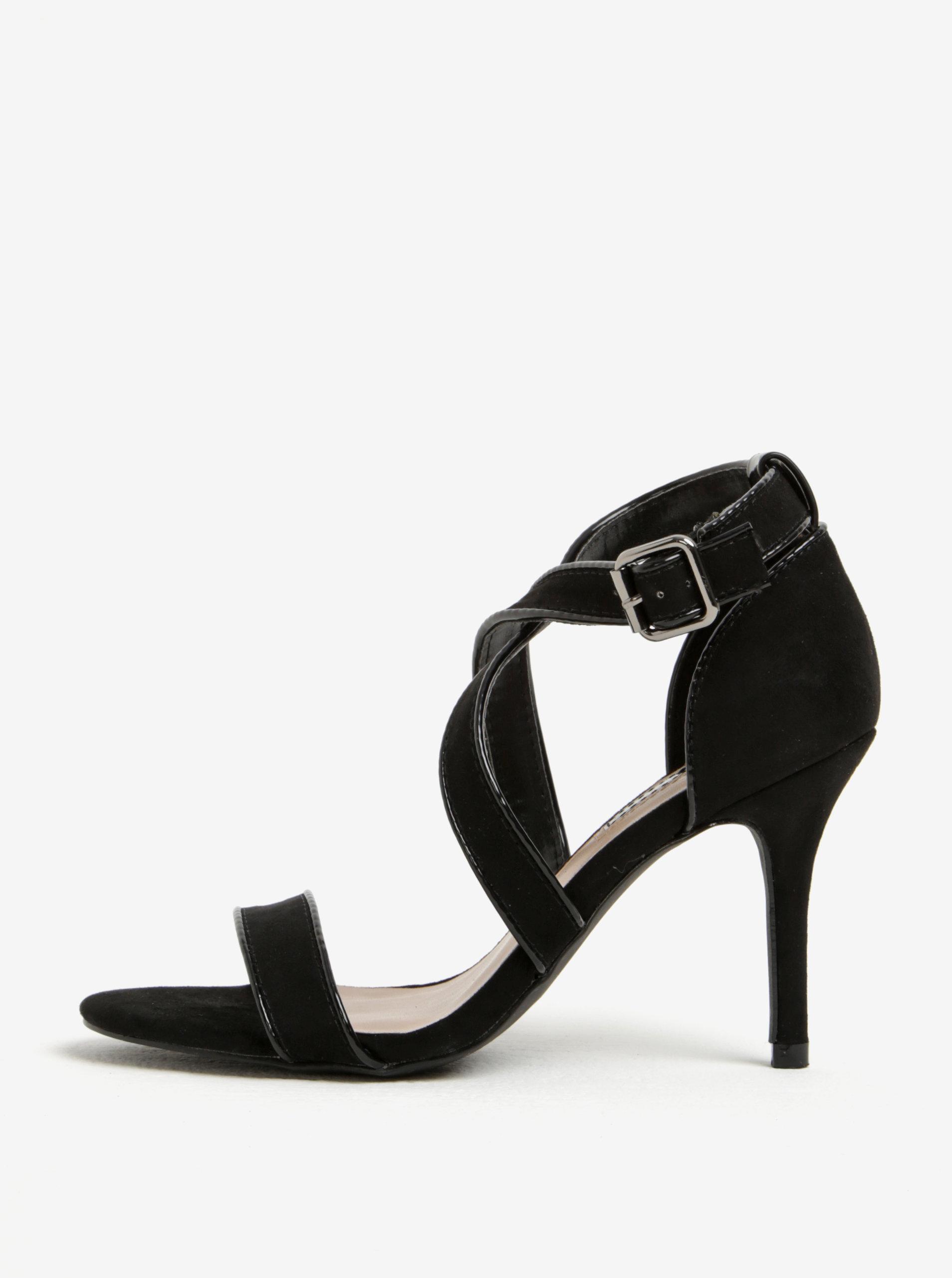9edcab428fd7 Čierne sandále v semišovej úprave Dorothy Perkins ...