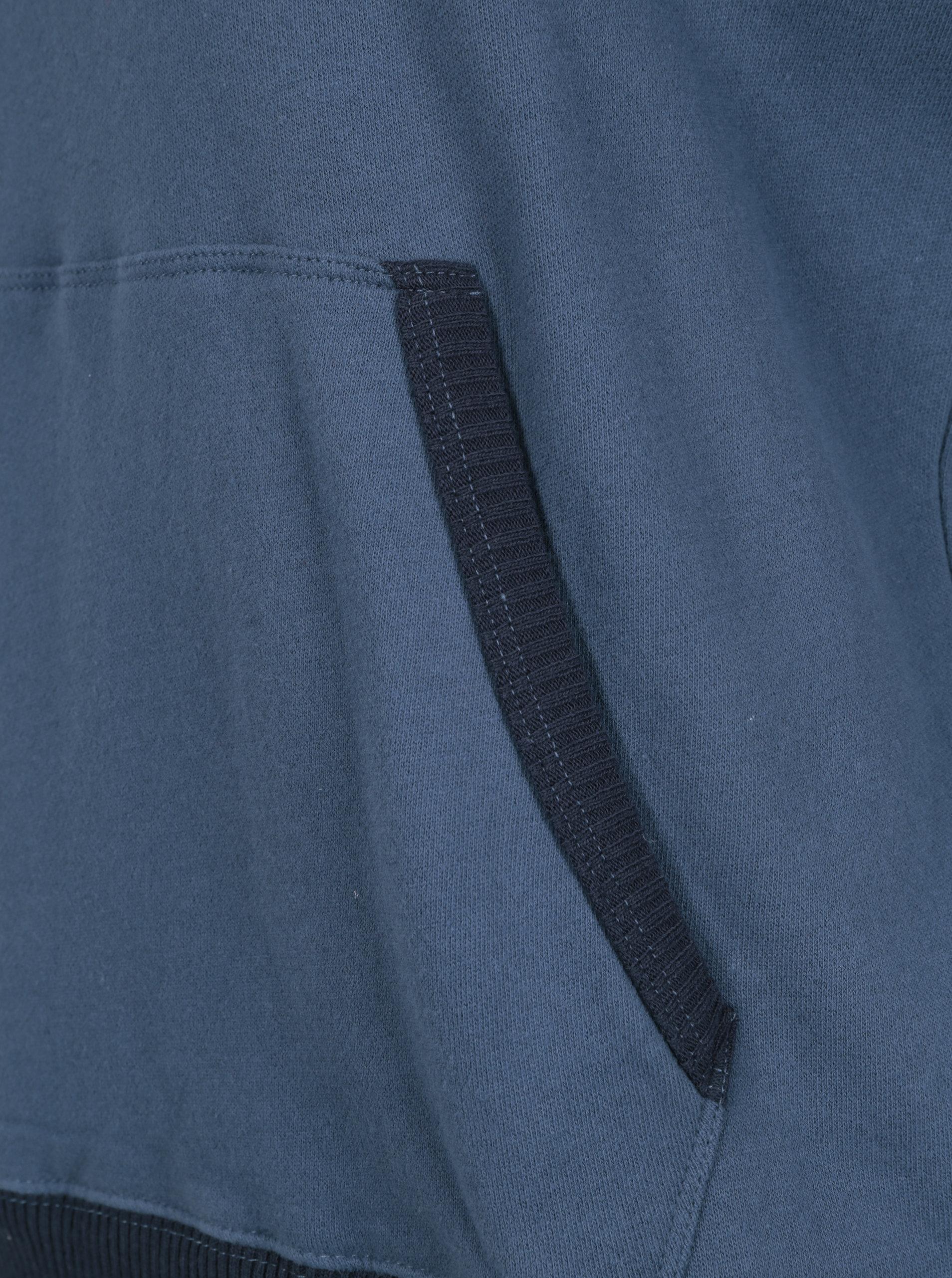 Modrá pánská mikina s výšivkou a kapucí Pepe Jeans WOODWARD  97d7cde32b3